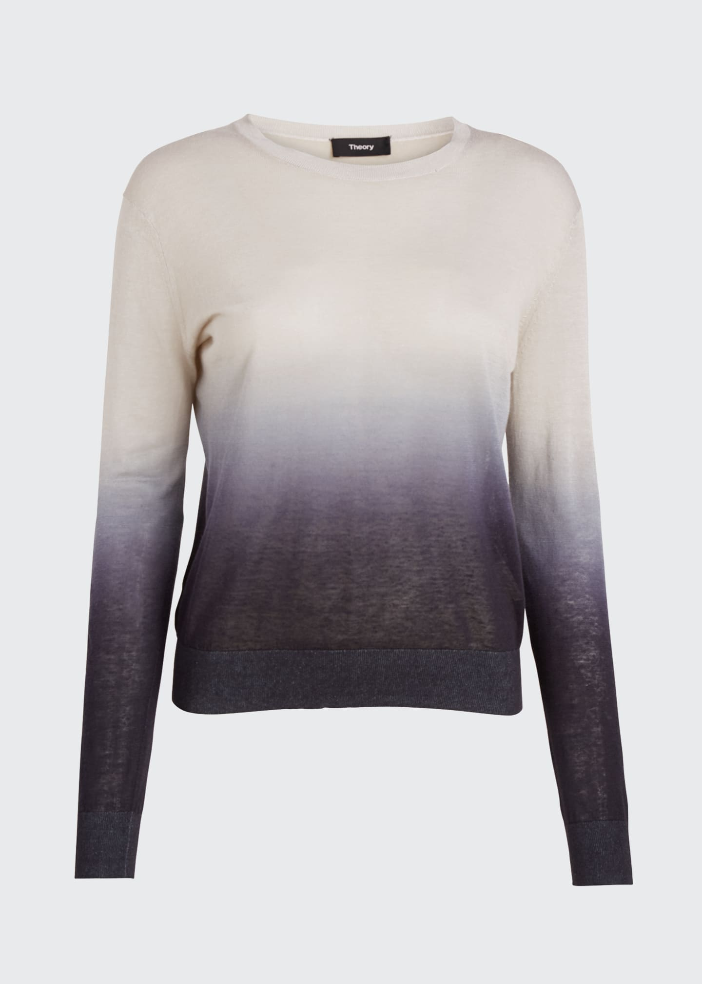 Image 5 of 5: Ombre Crewneck Linen Top