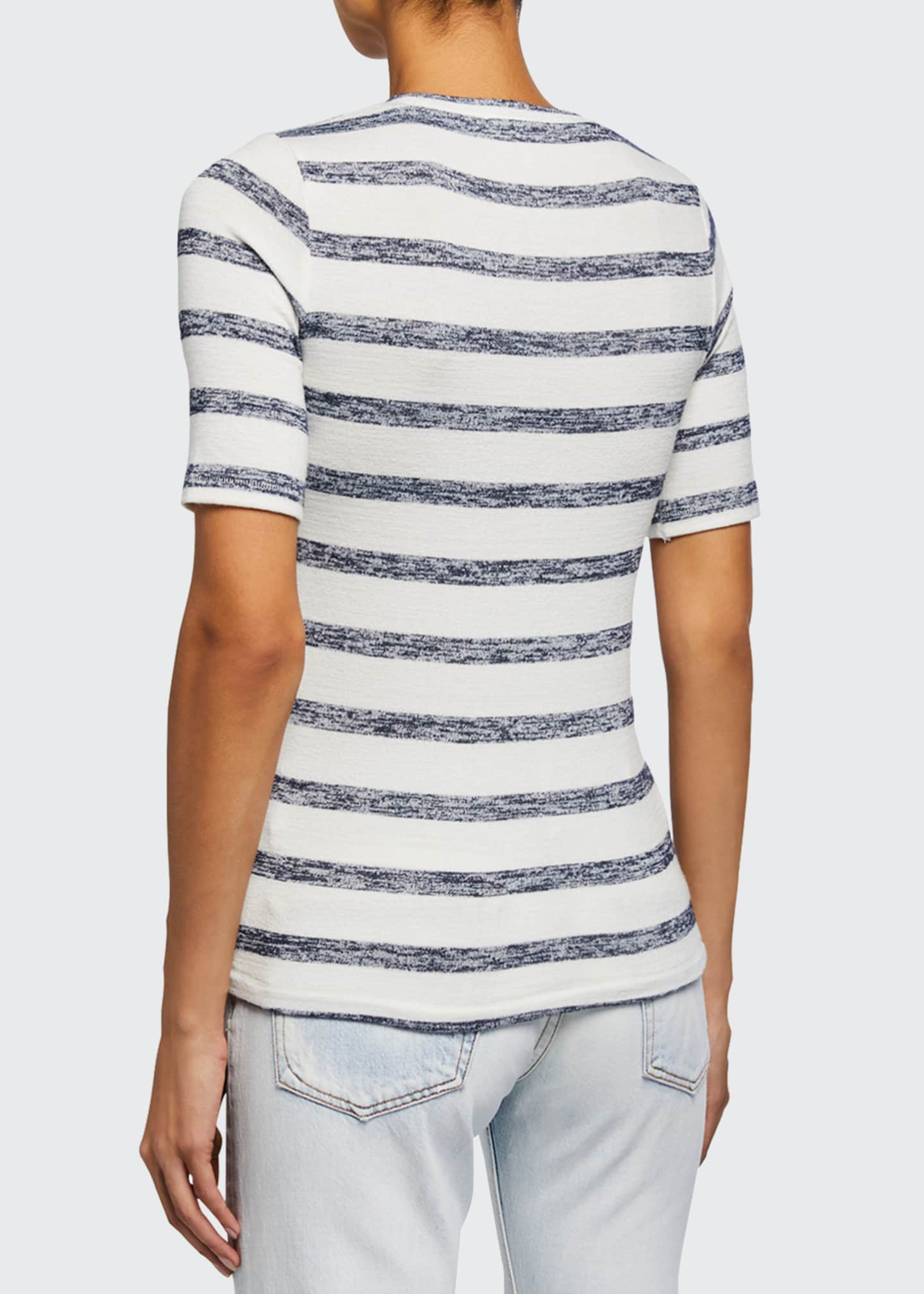 Image 2 of 3: Striped Knit Slim Tee