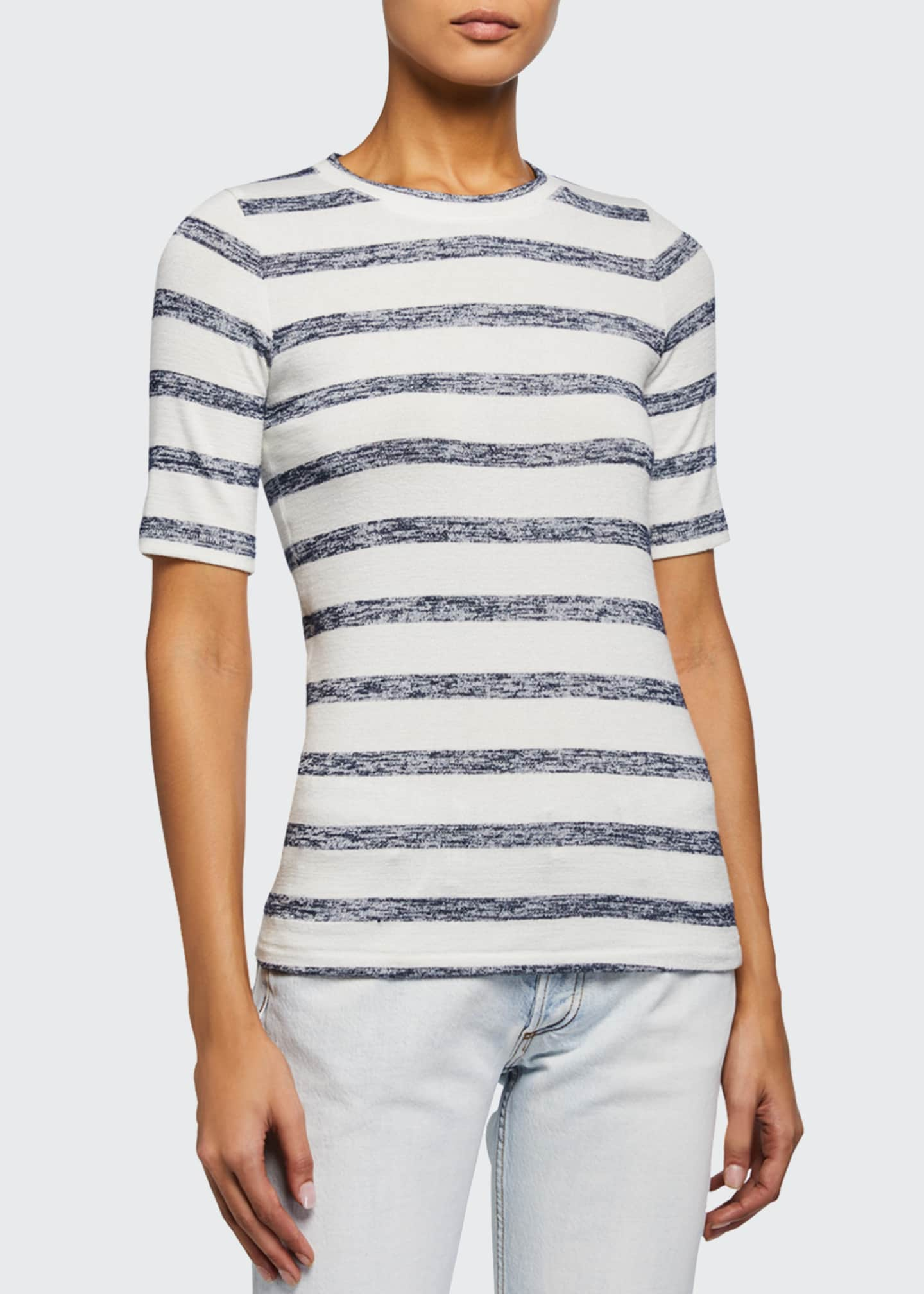 Image 3 of 3: Striped Knit Slim Tee