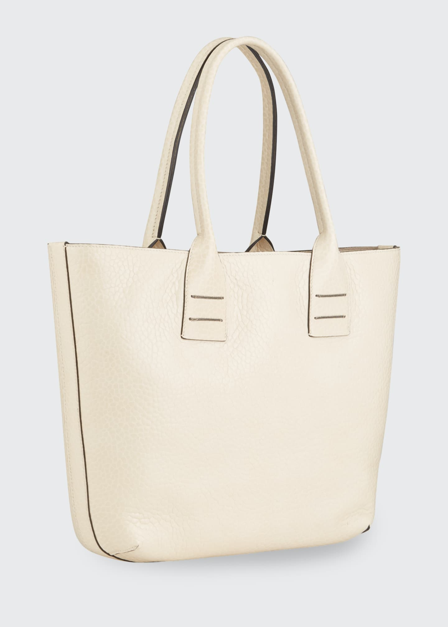 Image 2 of 3: Reversible Mixed Leather Tote Bag
