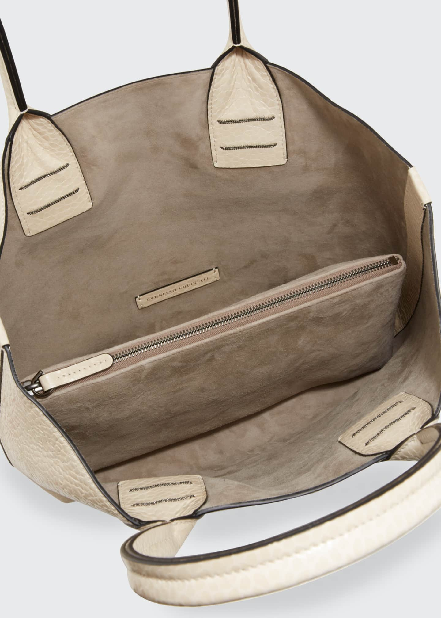 Image 3 of 3: Reversible Mixed Leather Tote Bag