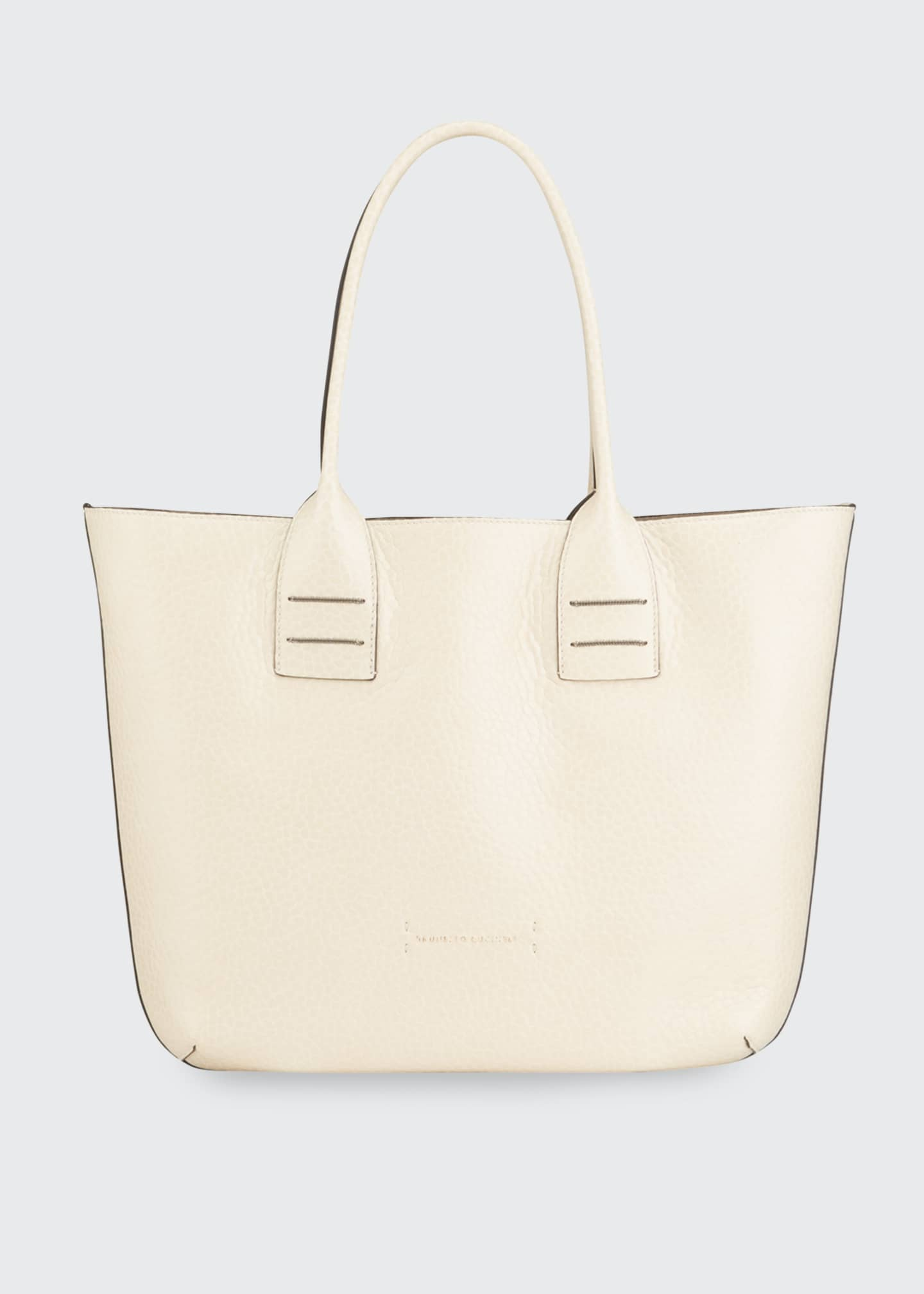 Image 1 of 3: Reversible Mixed Leather Tote Bag