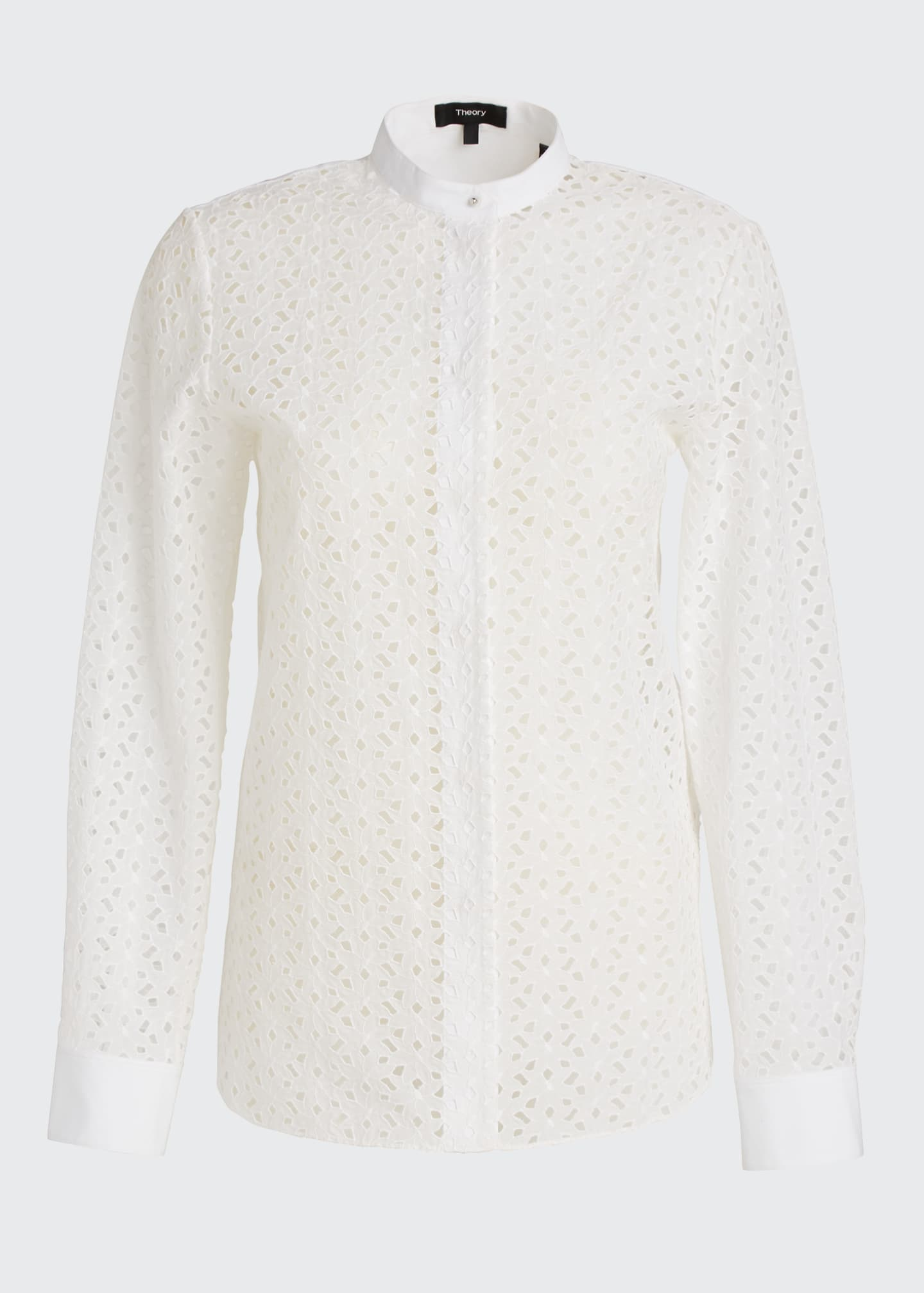 Image 5 of 5: Eyelet Button-Down Combo Shirt