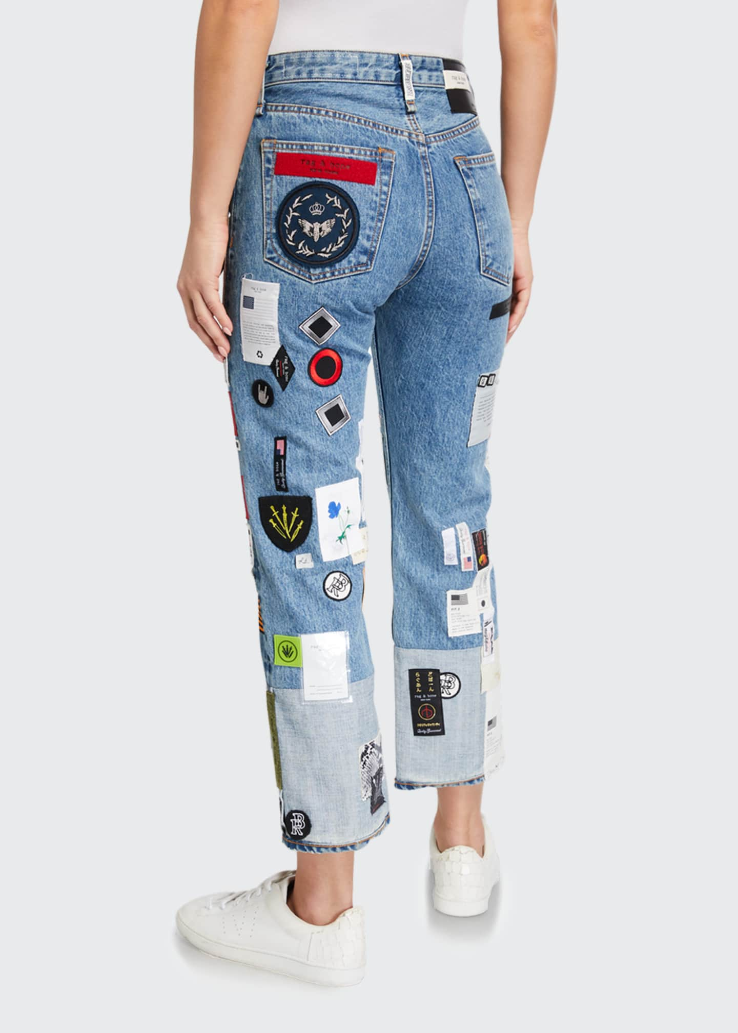 Image 2 of 3: Patchwork Straight-Leg Jeans