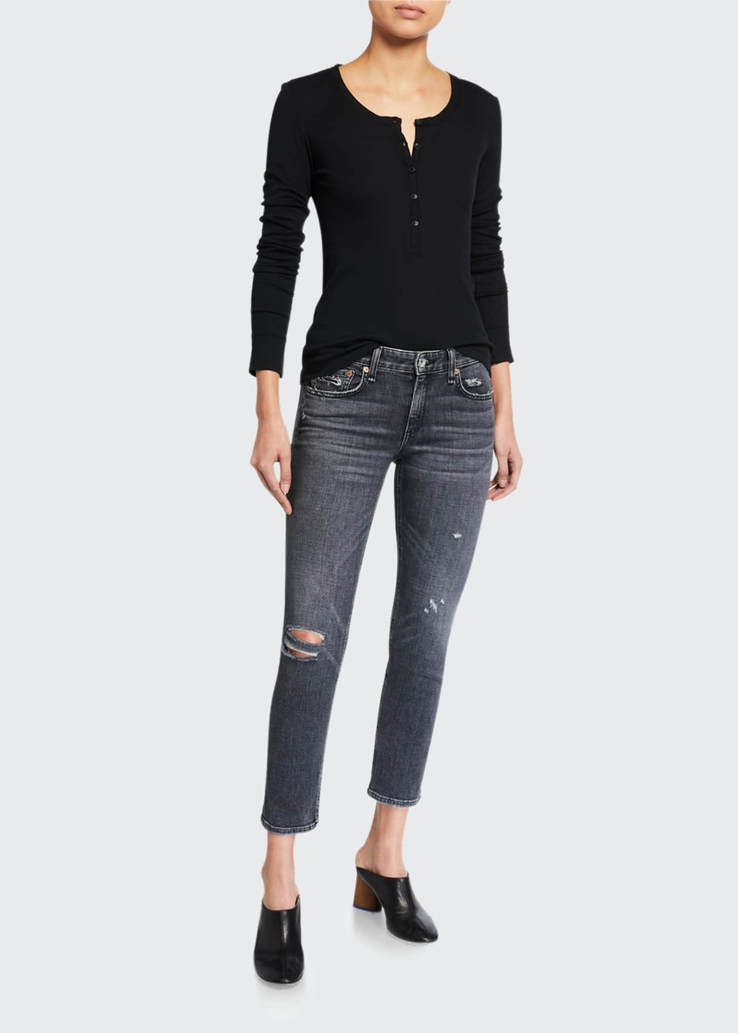 Image 1 of 3: Dre Low-Rise Slim Boyfriend Jeans