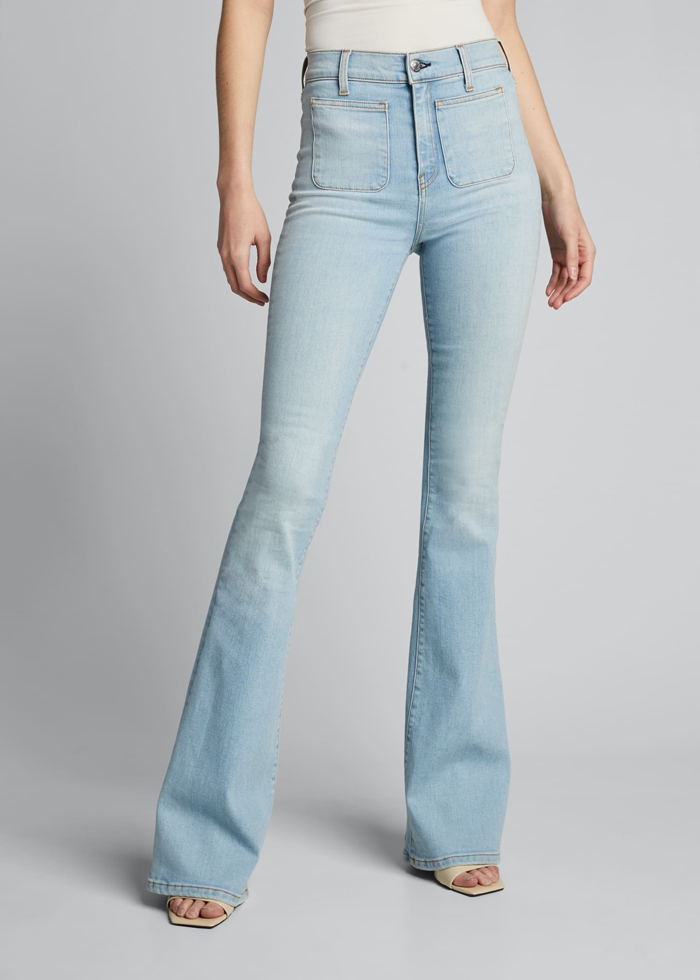 Image 3 of 5: Florence High-Rise Flare Jeans