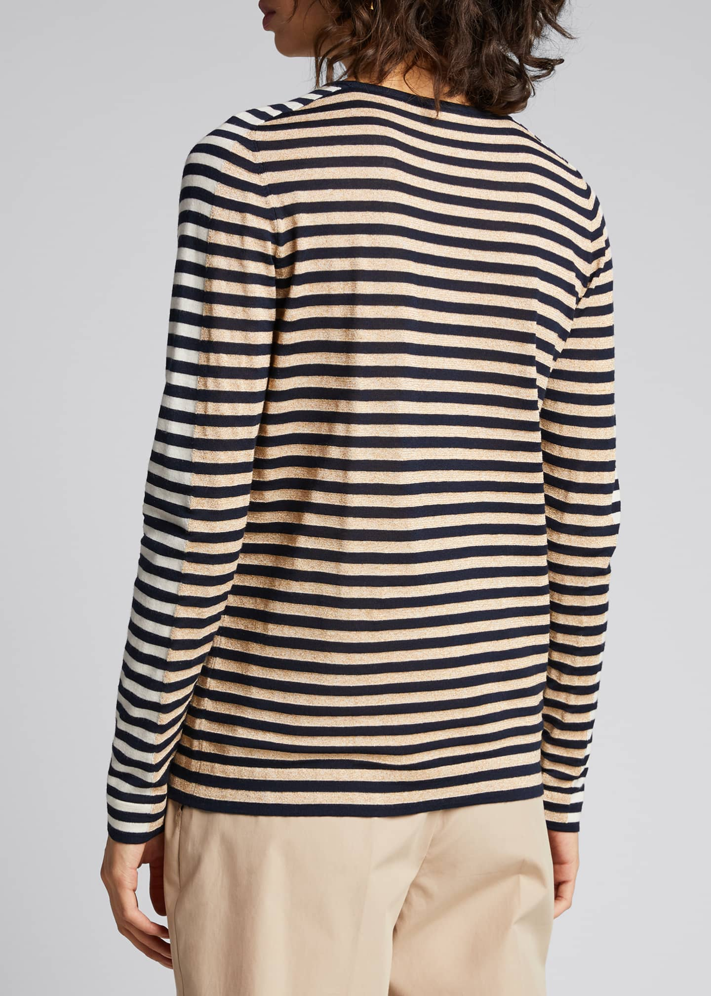 Image 2 of 5: Signature Stripe Wool Knit Pullover