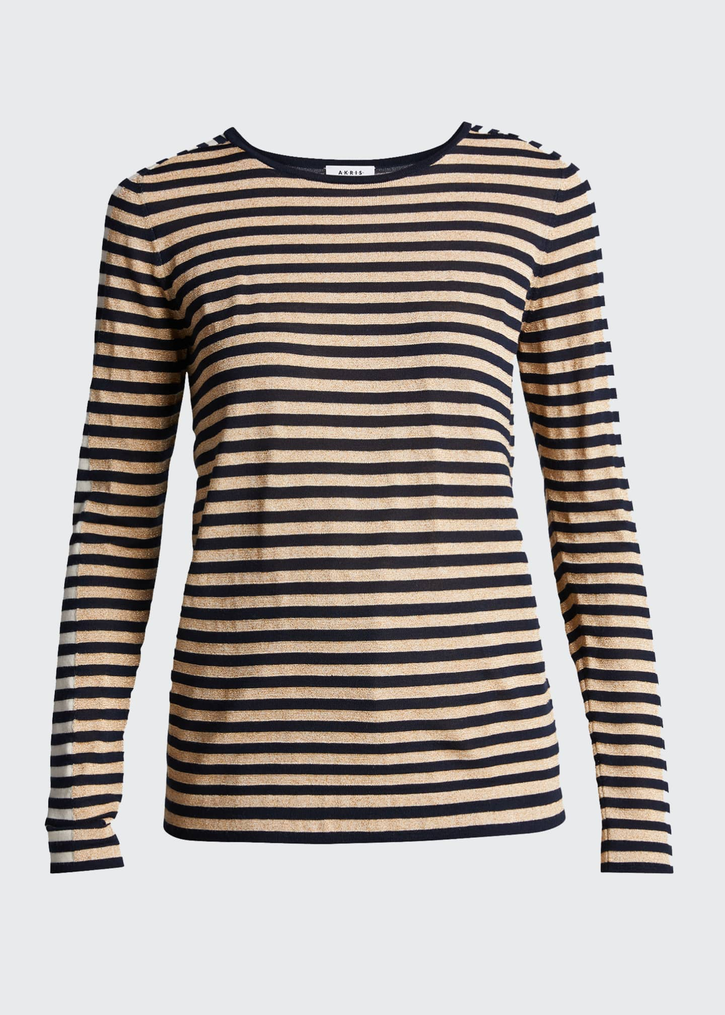 Image 5 of 5: Signature Stripe Wool Knit Pullover