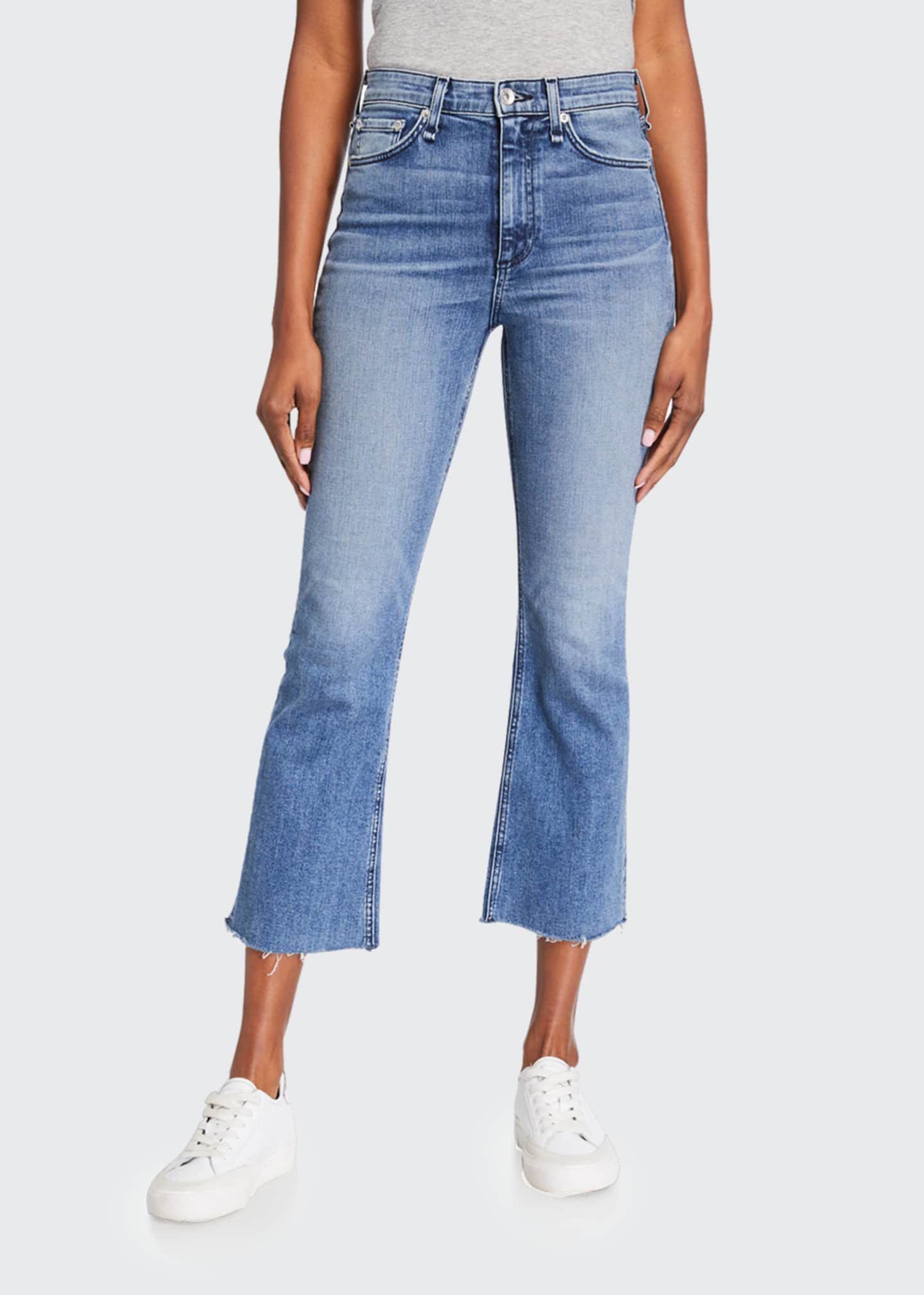 Image 3 of 3: Nina High-Rise Ankle Flare Jeans