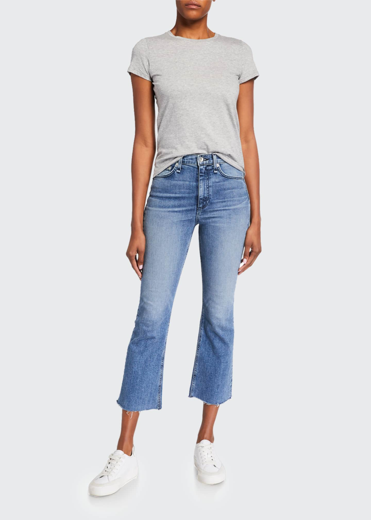 Image 1 of 3: Nina High-Rise Ankle Flare Jeans