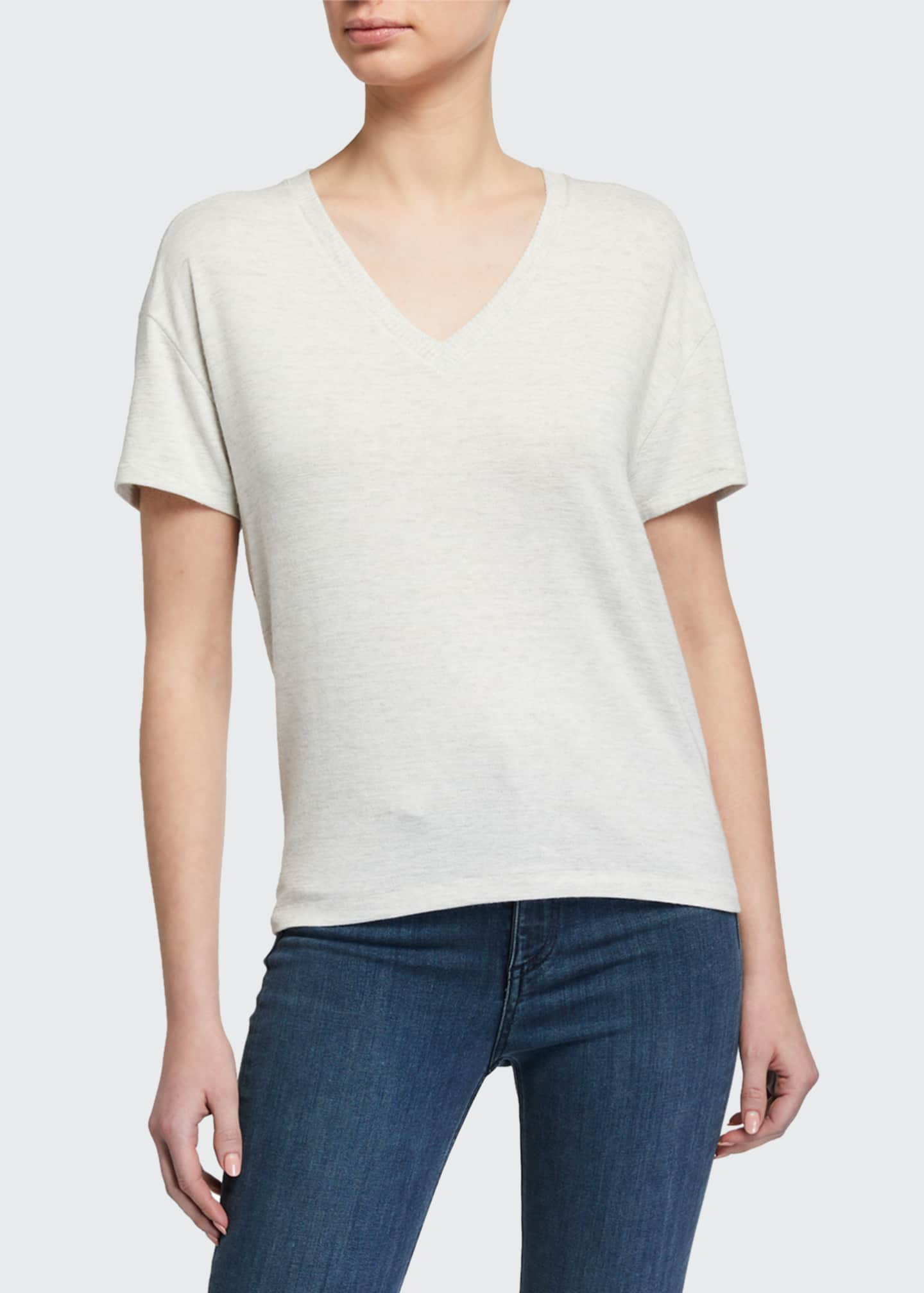 Image 3 of 3: The Knit V-Neck Tee
