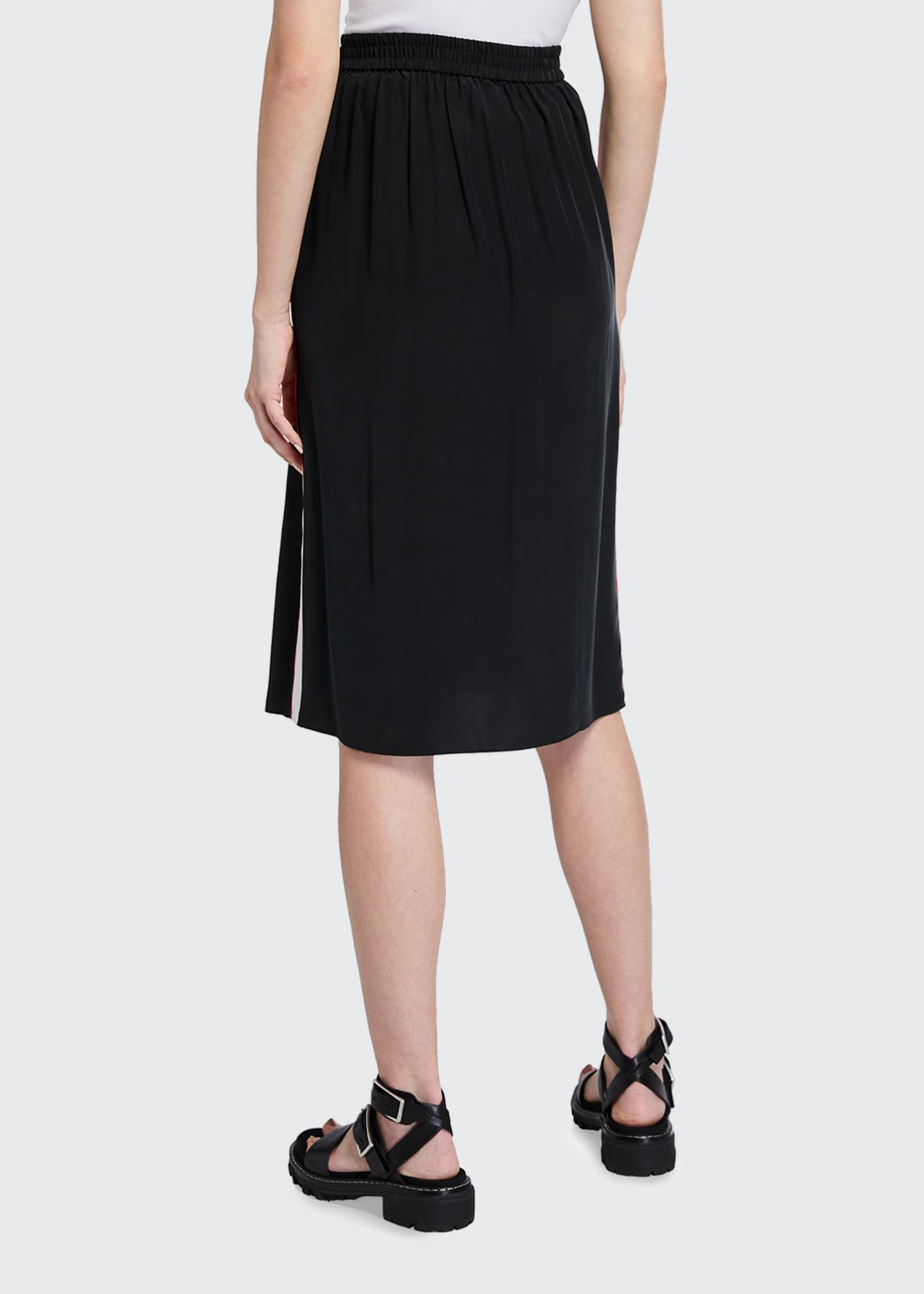 Image 2 of 3: Luca Side-Stripe Pencil Skirt