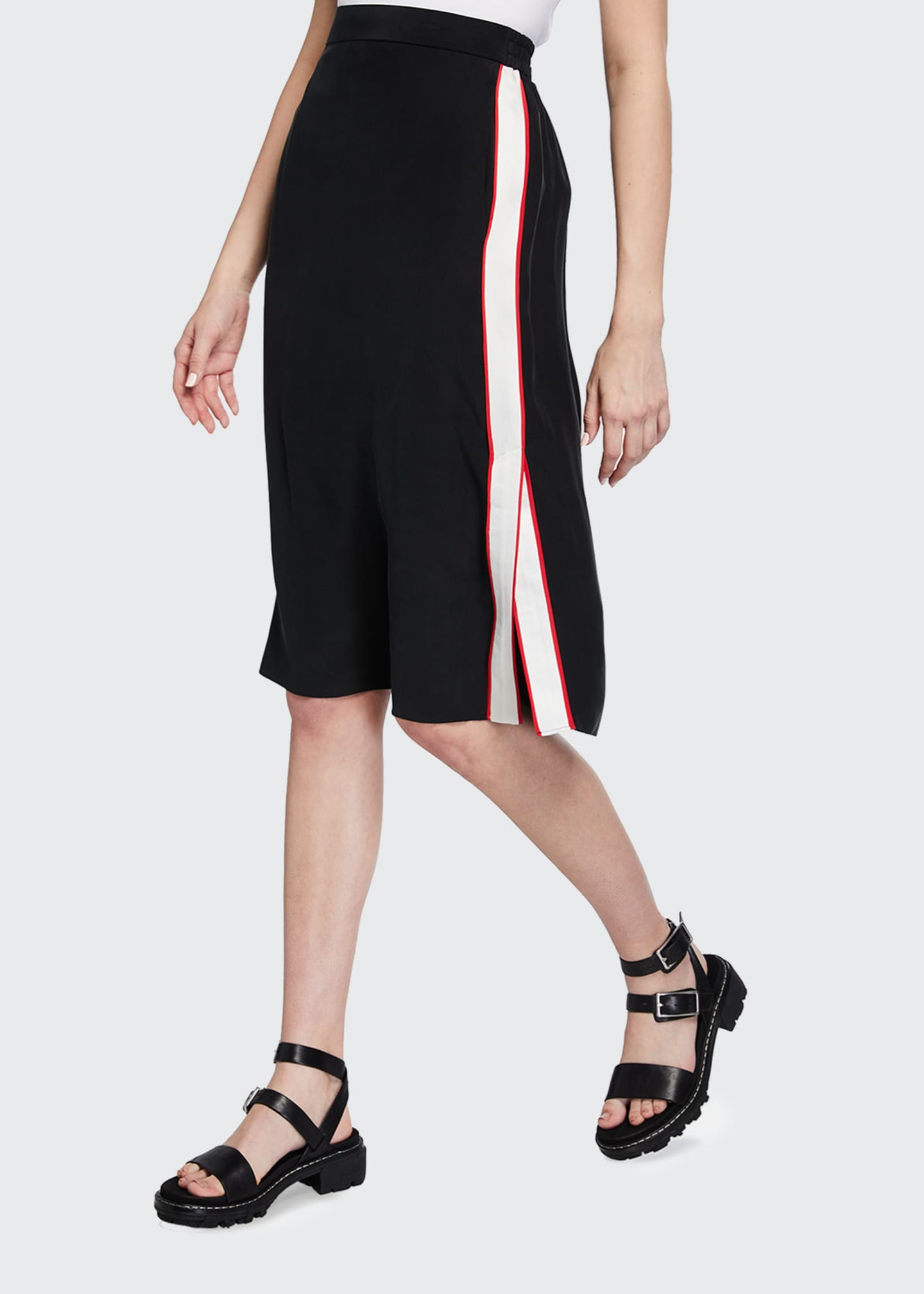 Image 3 of 3: Luca Side-Stripe Pencil Skirt
