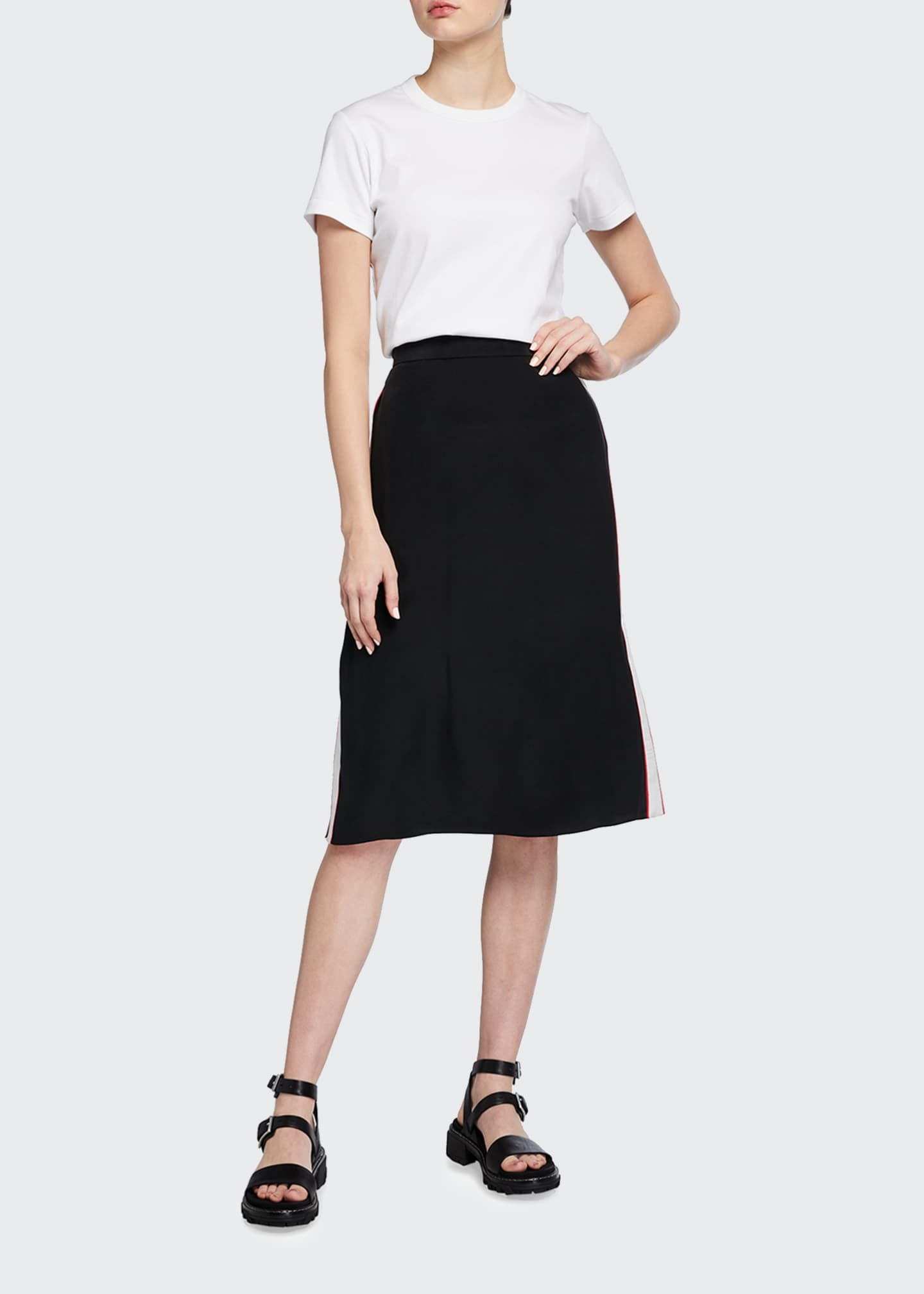 Image 1 of 3: Luca Side-Stripe Pencil Skirt
