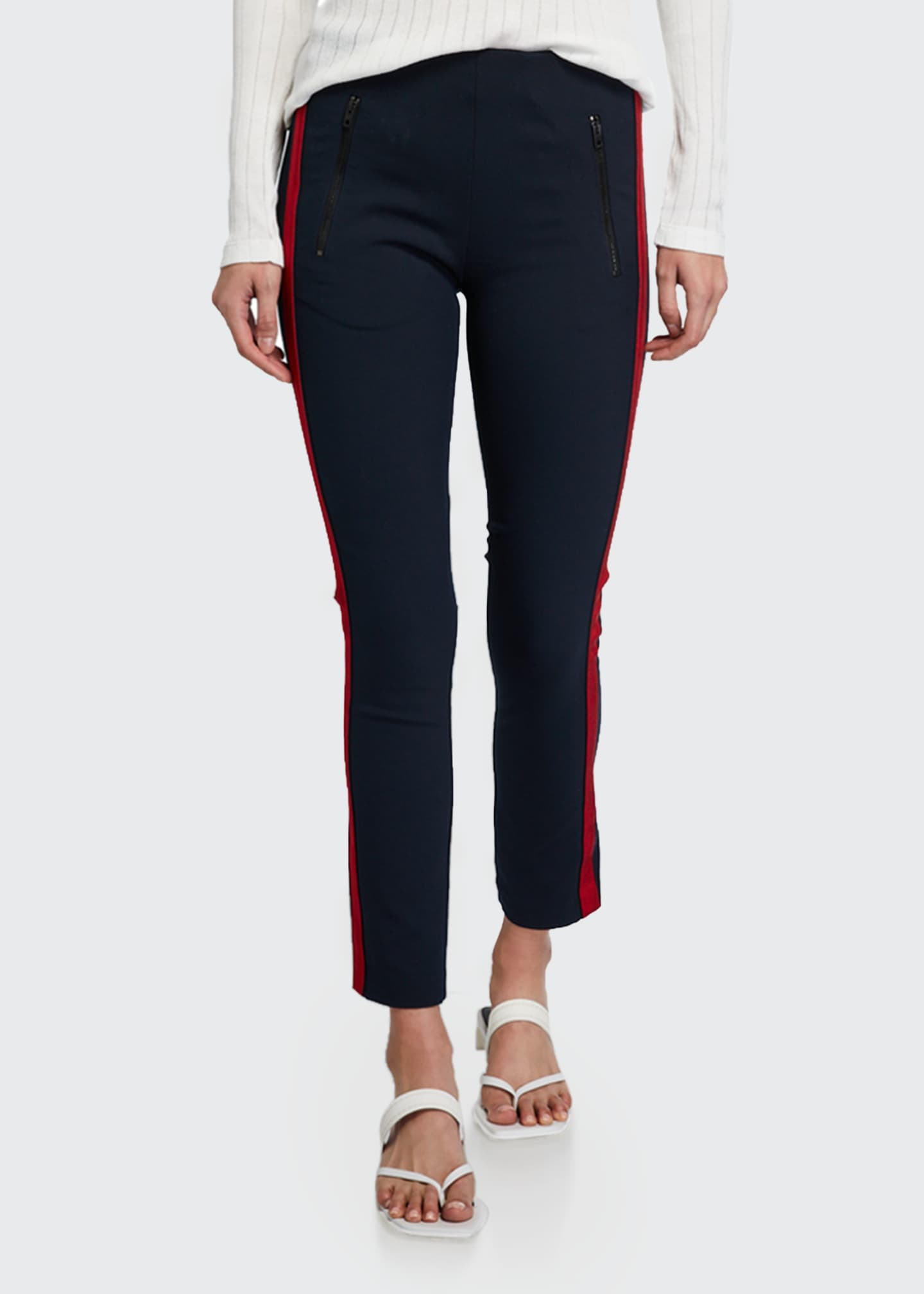 Image 3 of 3: Simone Side-Stripe Pants with Zip Pockets