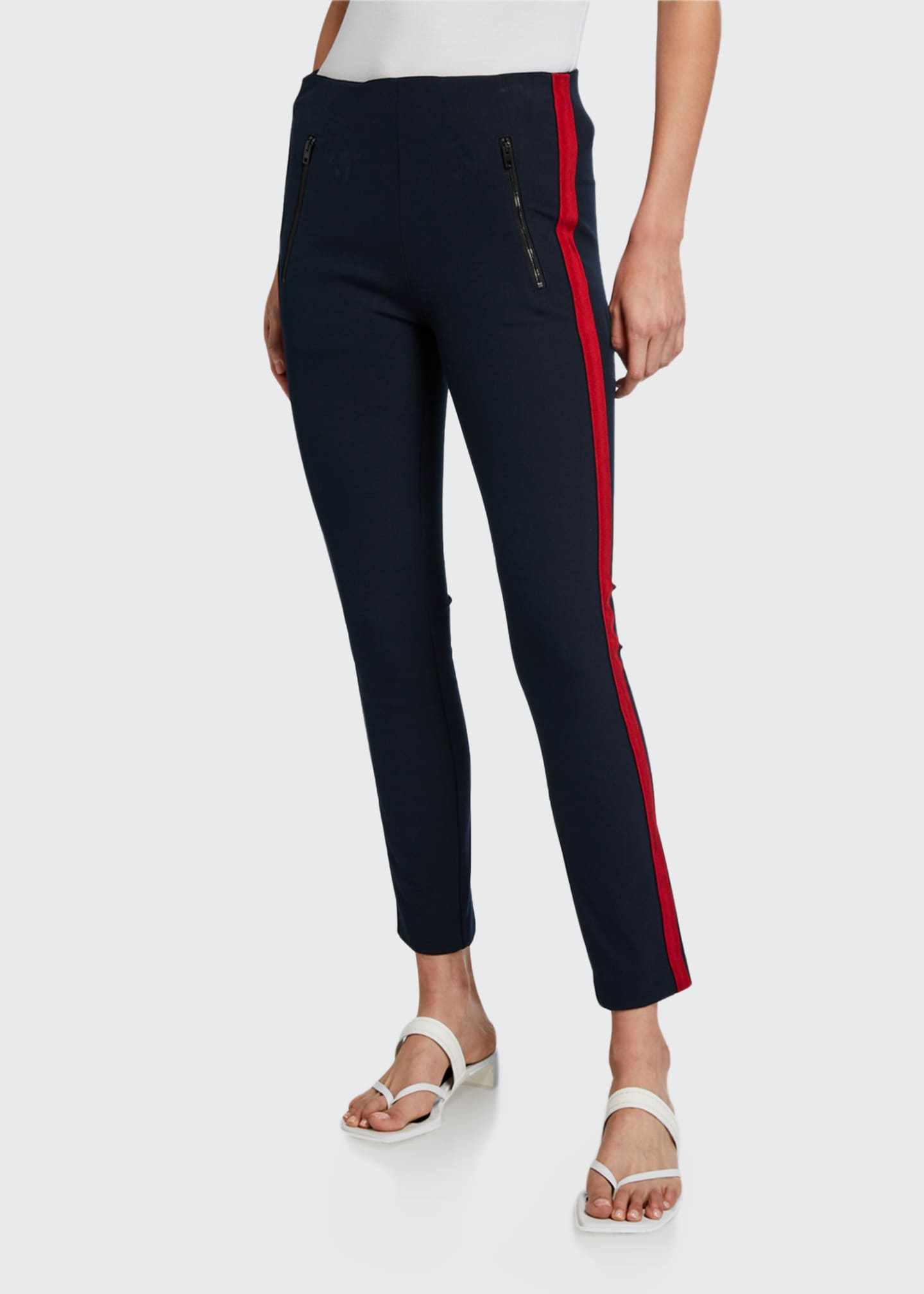Image 1 of 3: Simone Side-Stripe Pants with Zip Pockets