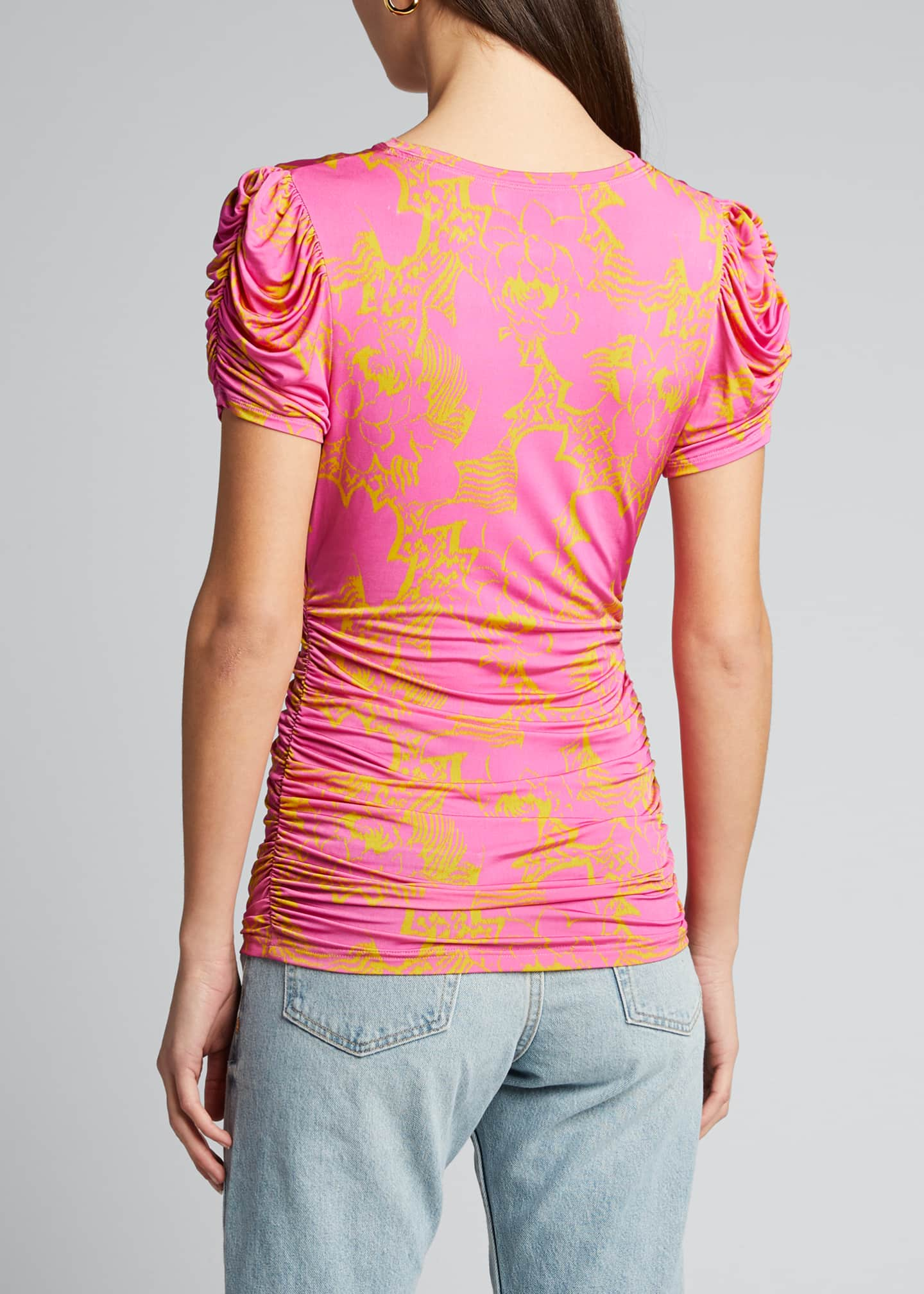 Image 2 of 5: Chaia Ruched Printed Top