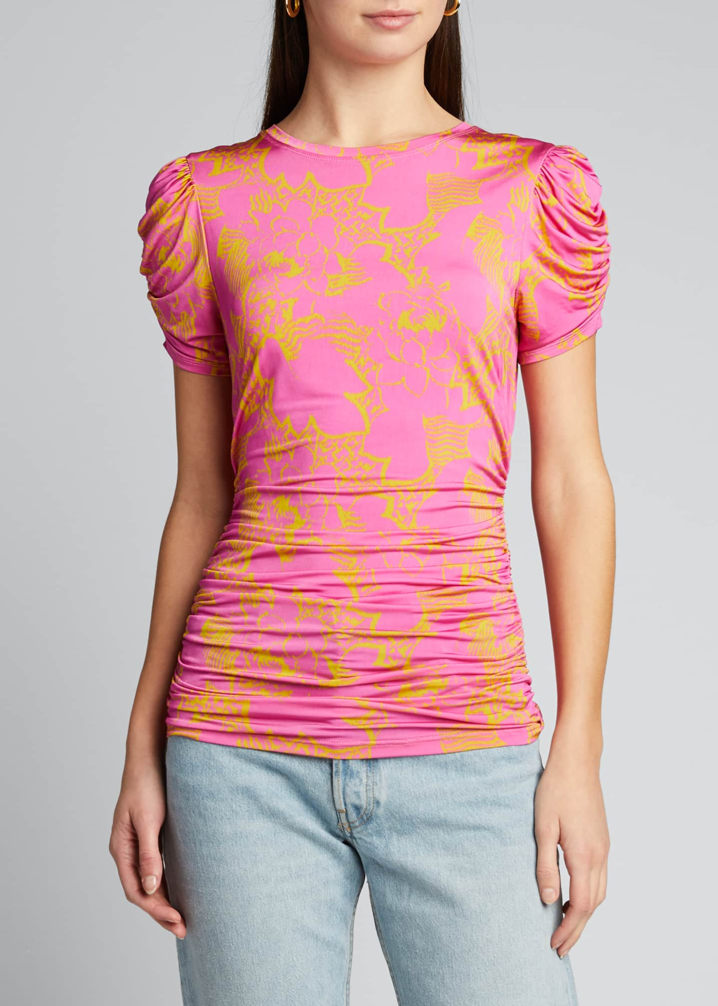 Image 3 of 5: Chaia Ruched Printed Top