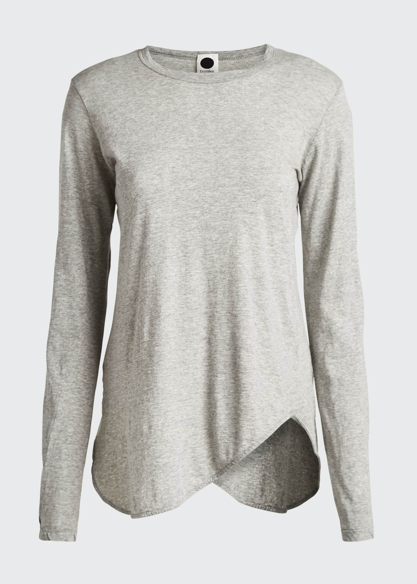 Image 5 of 5: Long-Sleeve Scoop-Hem T-Shirt