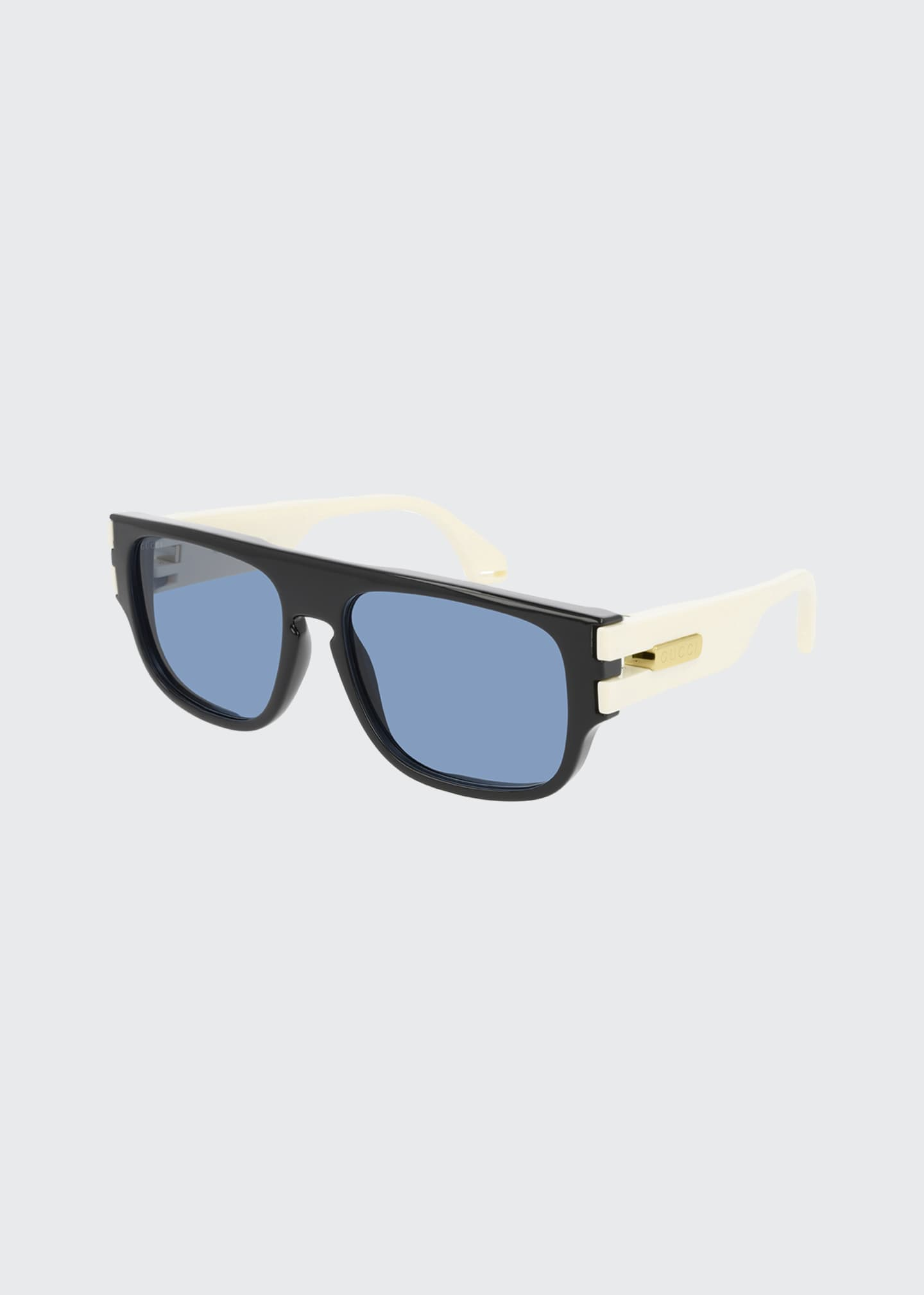 Image 1 of 1: Men's Square Two-Tone Injection Sunglasses