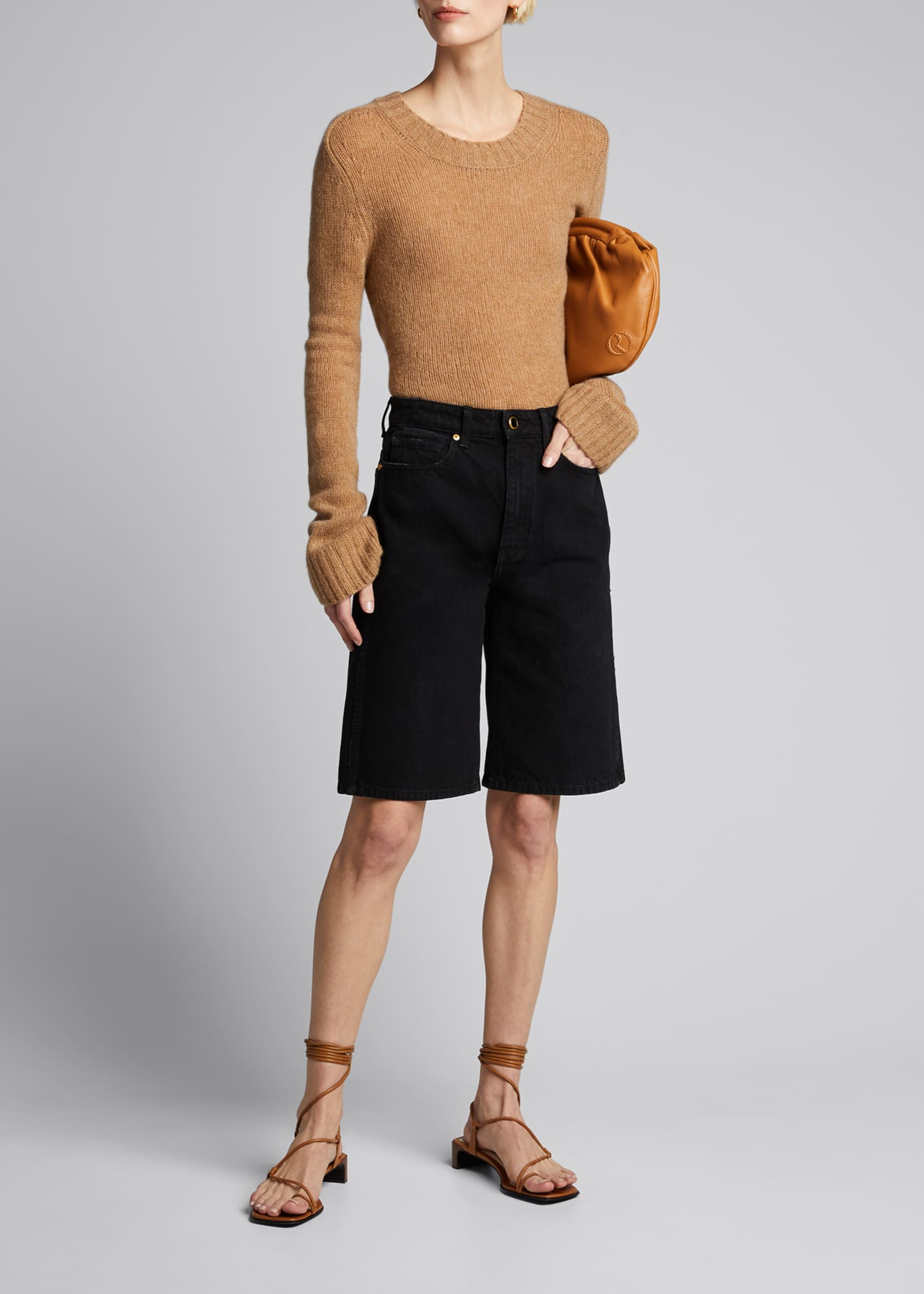 Image 1 of 5: Mitch Denim Bermuda Shorts