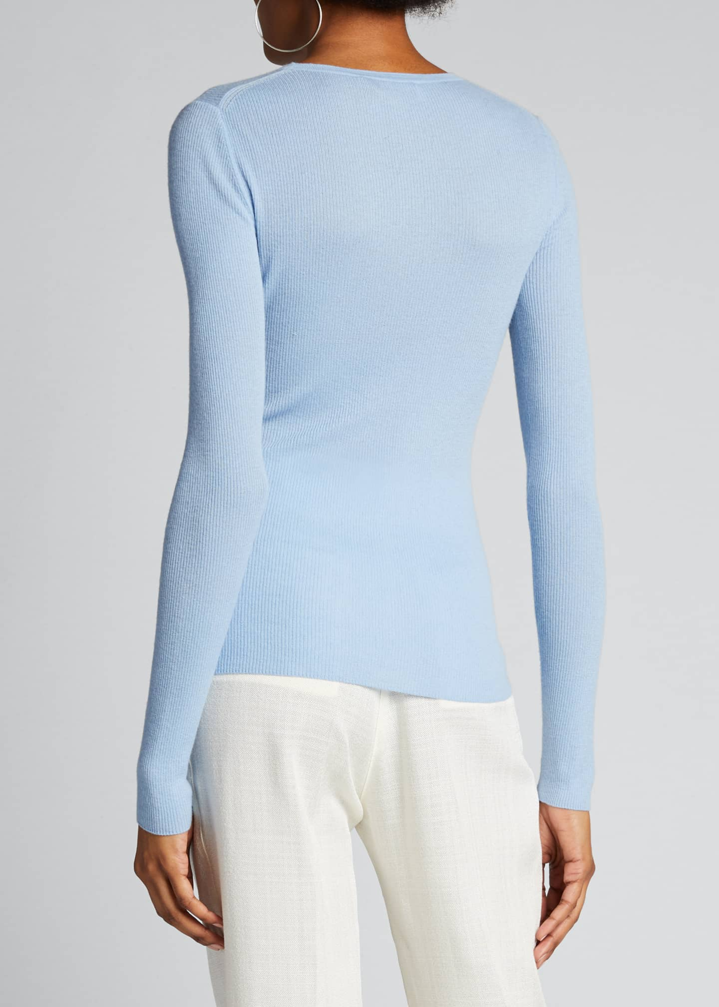 Image 2 of 4: Crewneck Featherweight Cashmere Sweater
