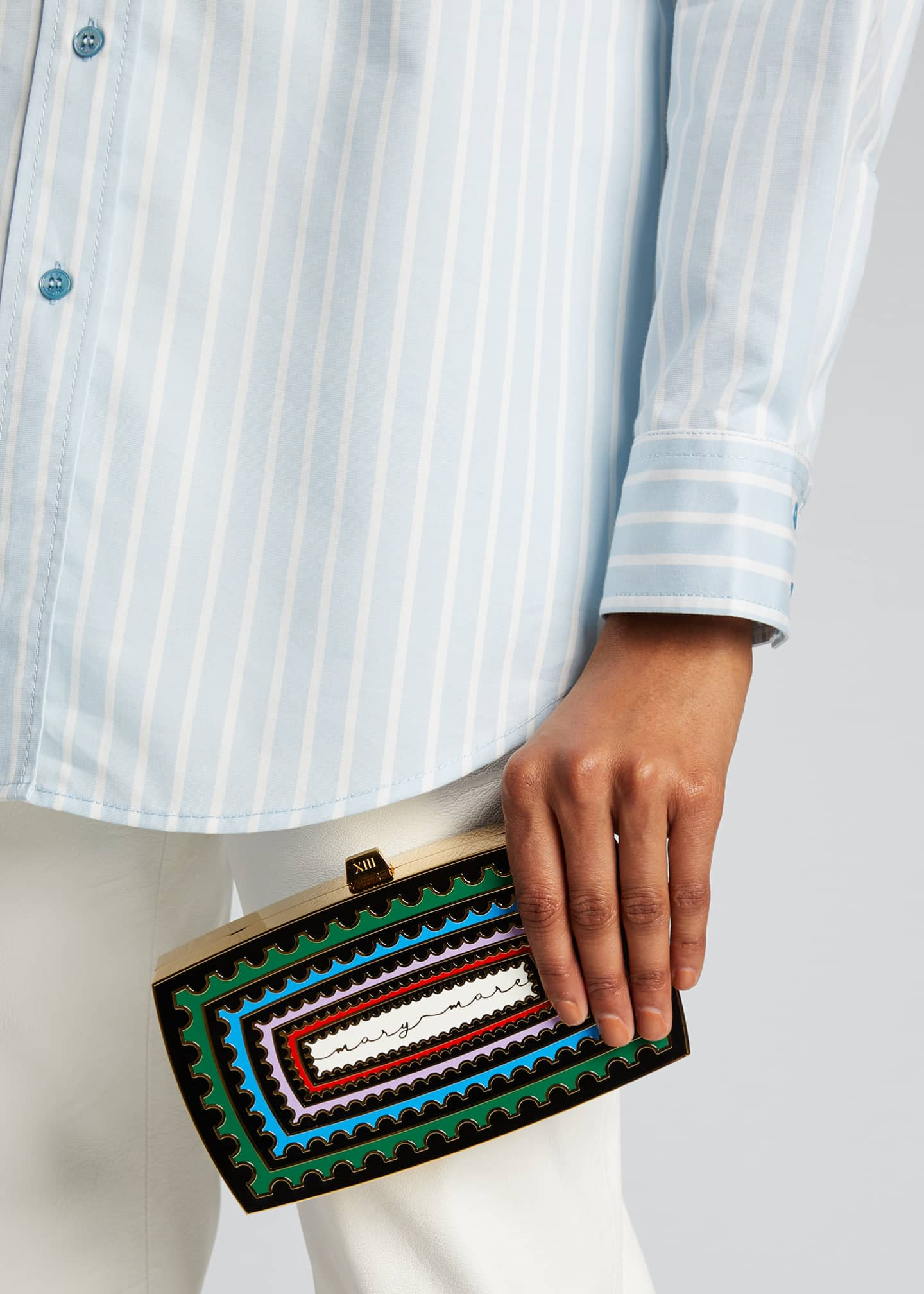 Image 2 of 5: x Mary Katrantzou Sounio Seaside Minaudiere Clutch Bag