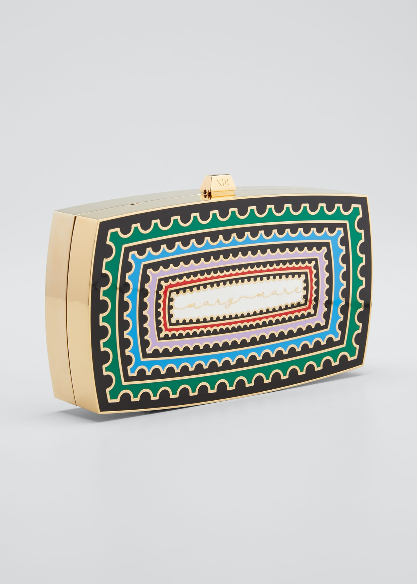 Image 3 of 5: x Mary Katrantzou Sounio Seaside Minaudiere Clutch Bag