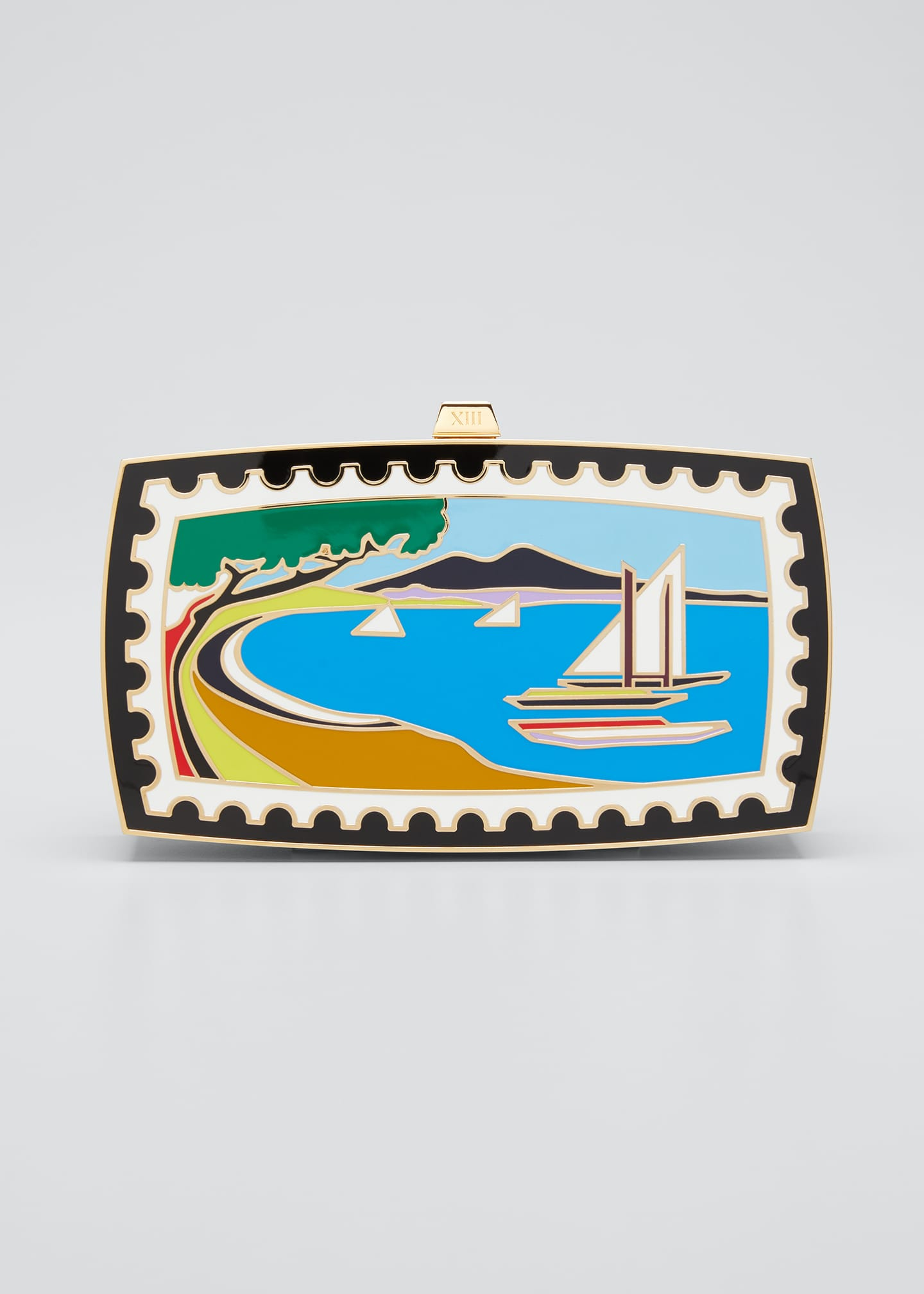 x Mary Katrantzou Sounio Seaside Minaudiere Clutch Bag