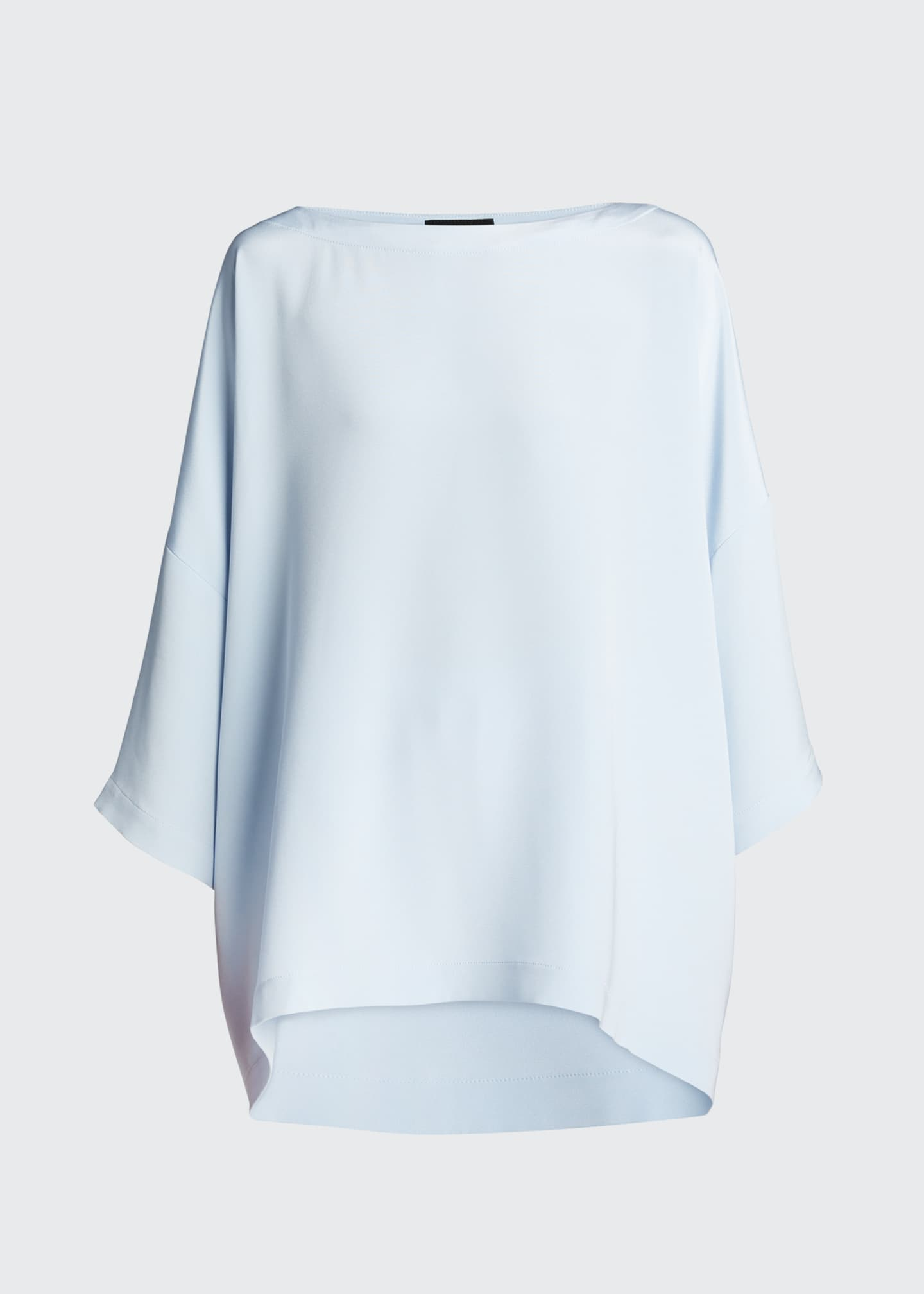 Image 5 of 5: Silk 3/4-Sleeve Bateau-Neck Tunic