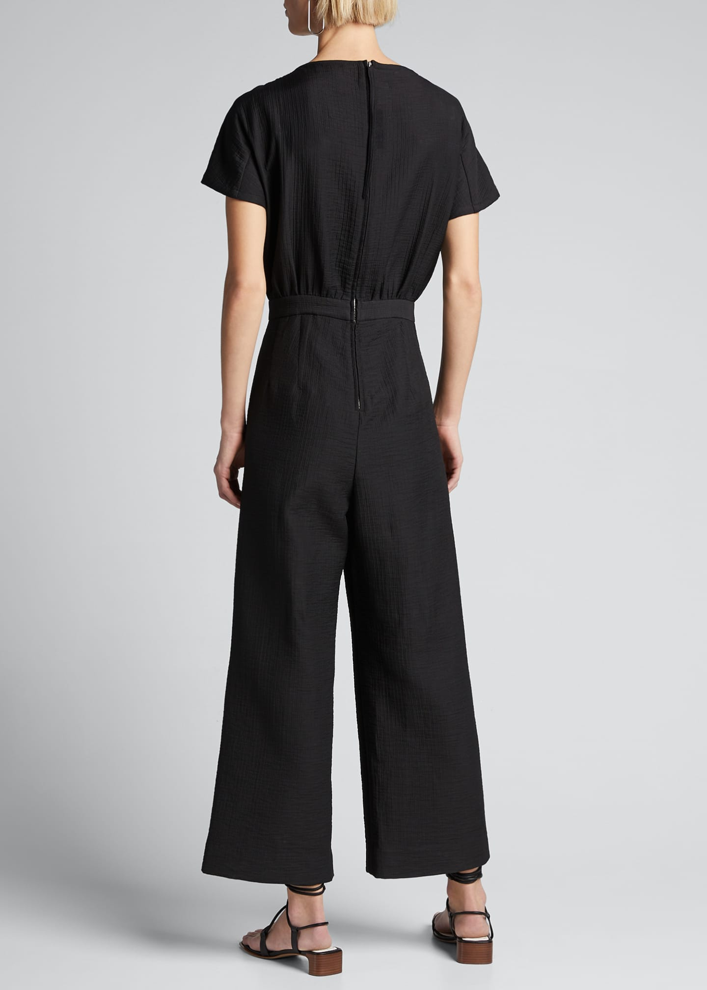 Image 2 of 5: Benedict Short-Sleeve Jumpsuit