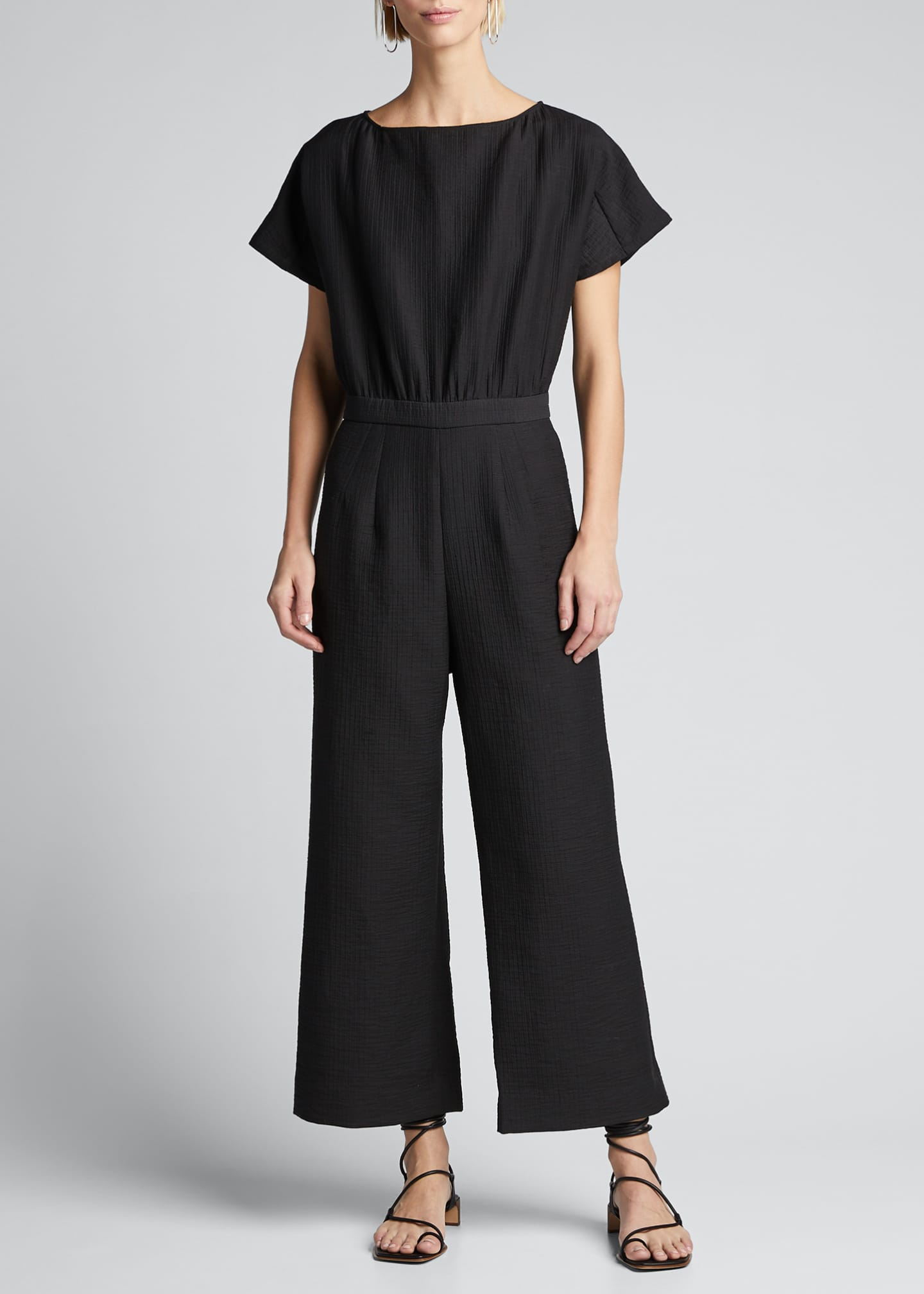 Image 3 of 5: Benedict Short-Sleeve Jumpsuit