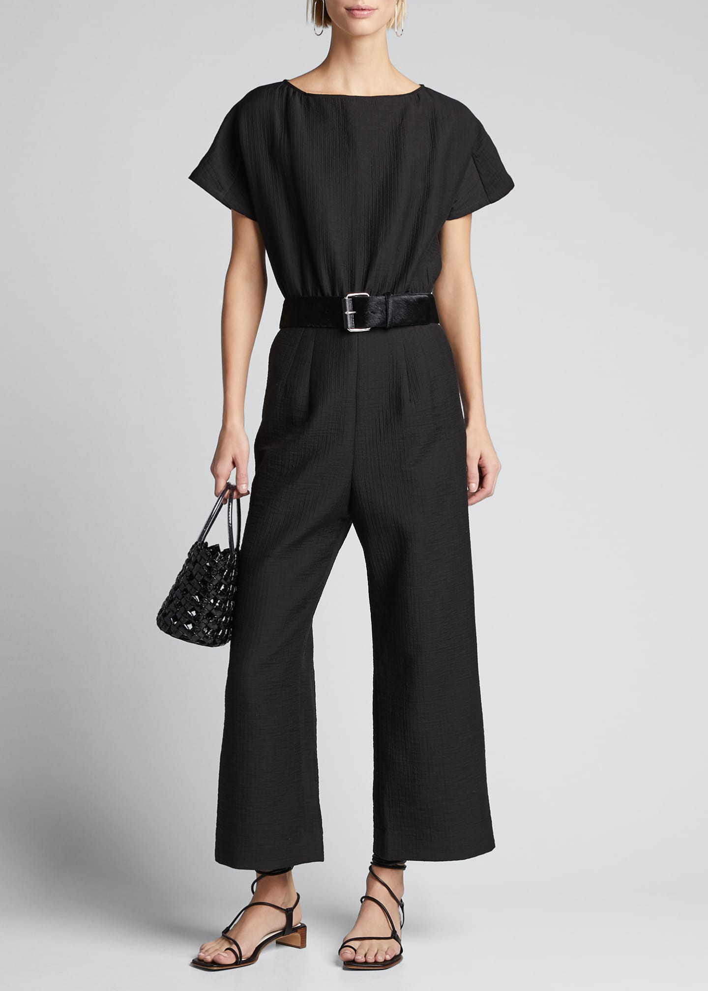 Image 1 of 5: Benedict Short-Sleeve Jumpsuit