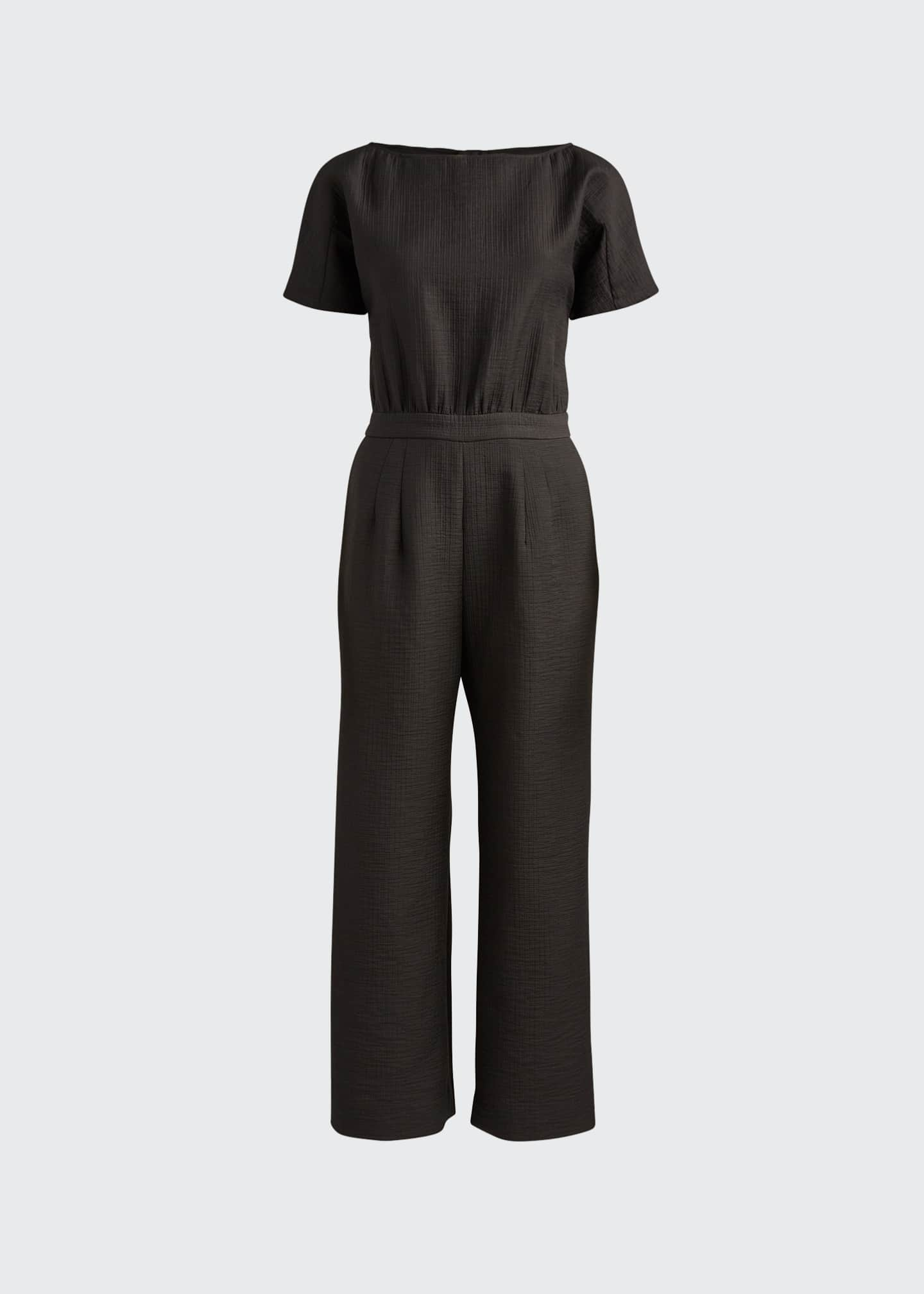 Image 5 of 5: Benedict Short-Sleeve Jumpsuit
