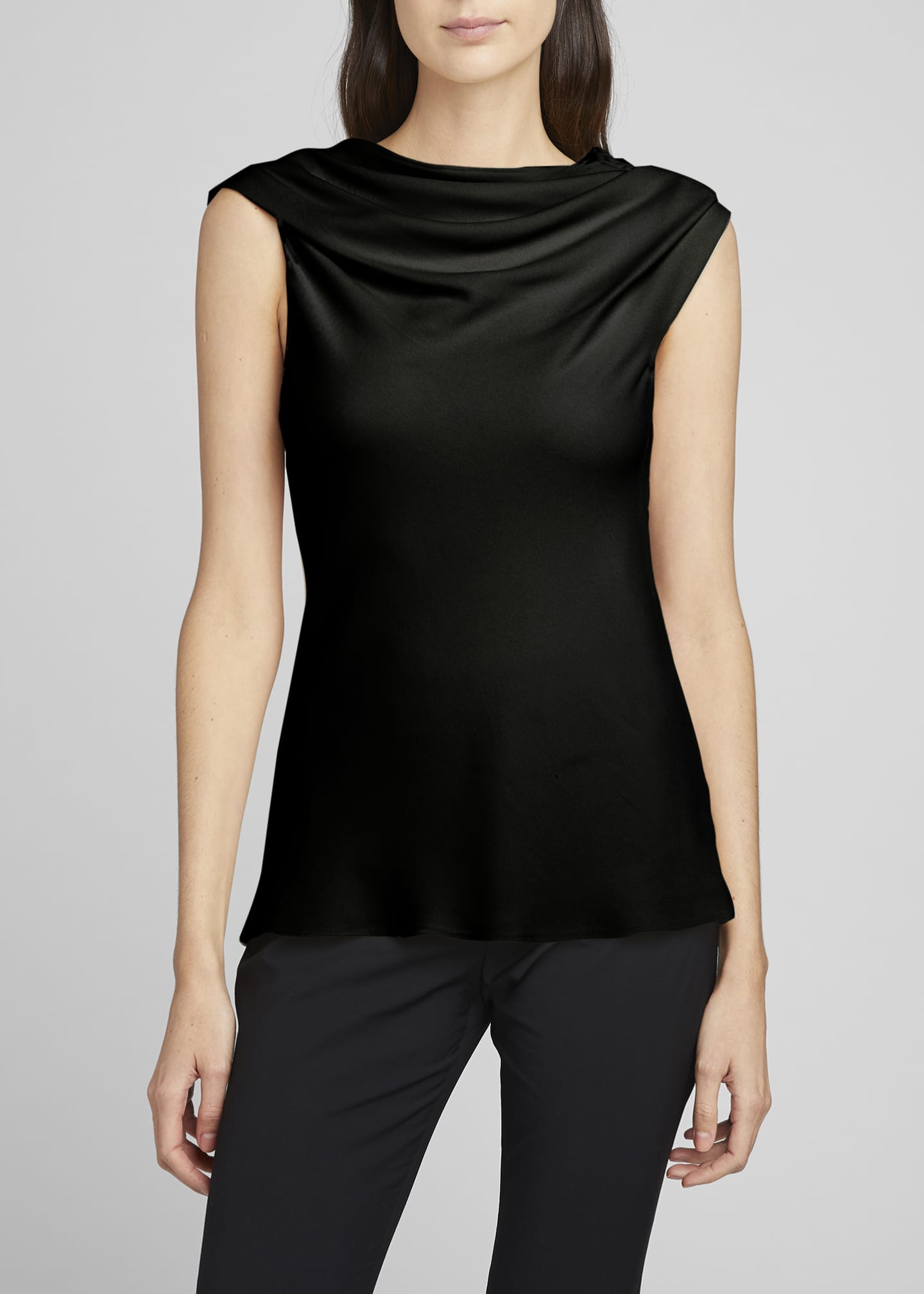 Image 2 of 4: Tuma Draped Asymmetric Top