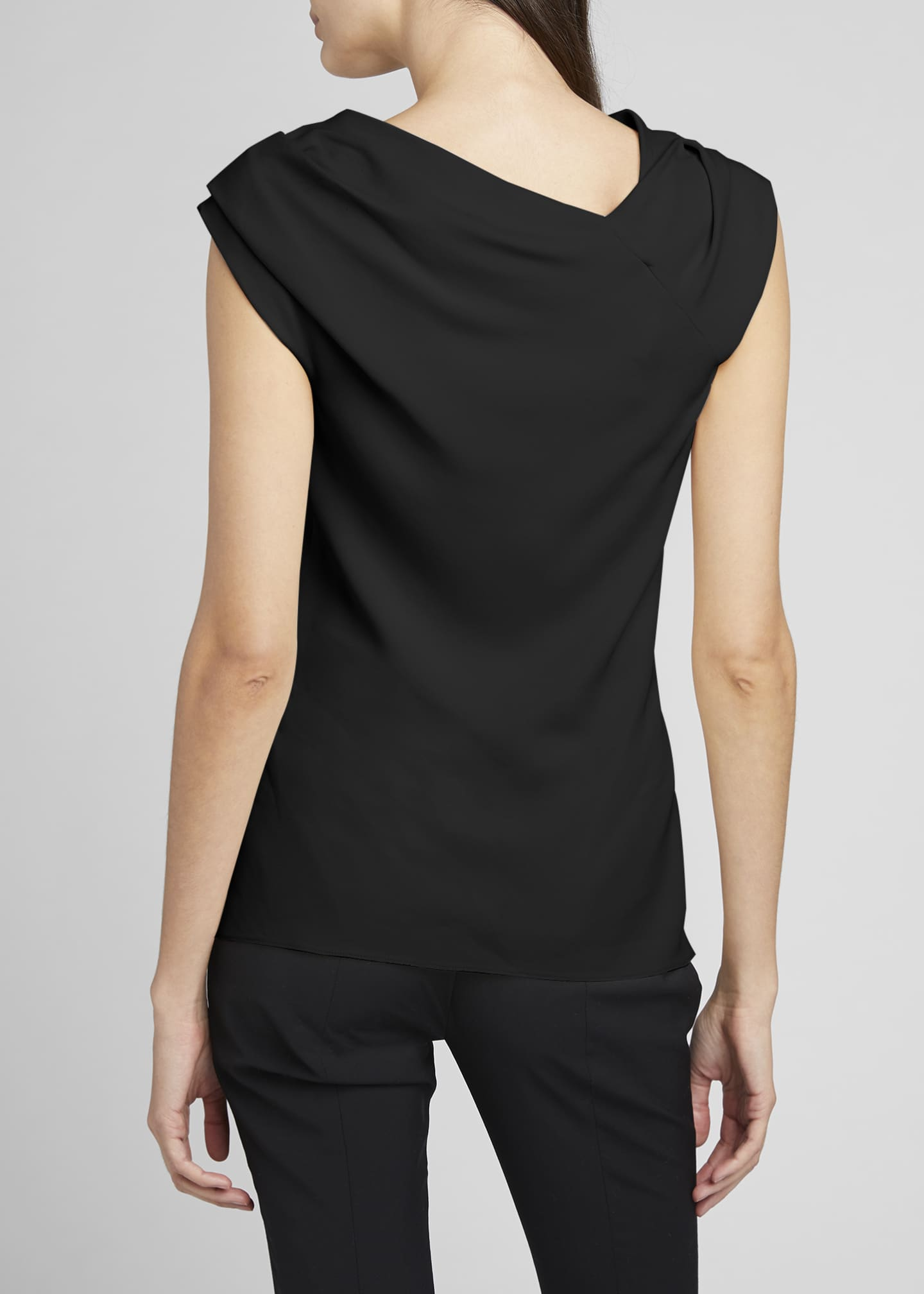 Image 4 of 4: Tuma Draped Asymmetric Top