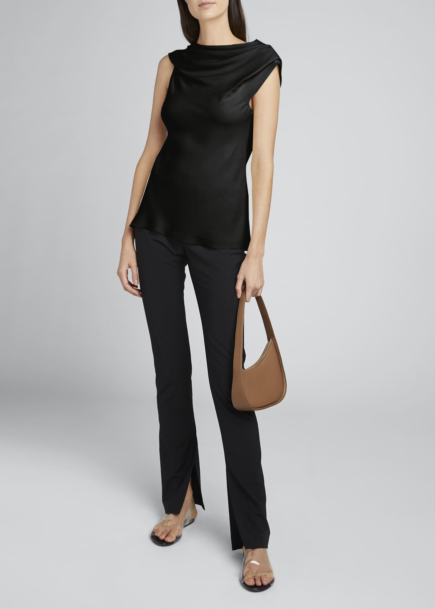 Image 1 of 4: Tuma Draped Asymmetric Top