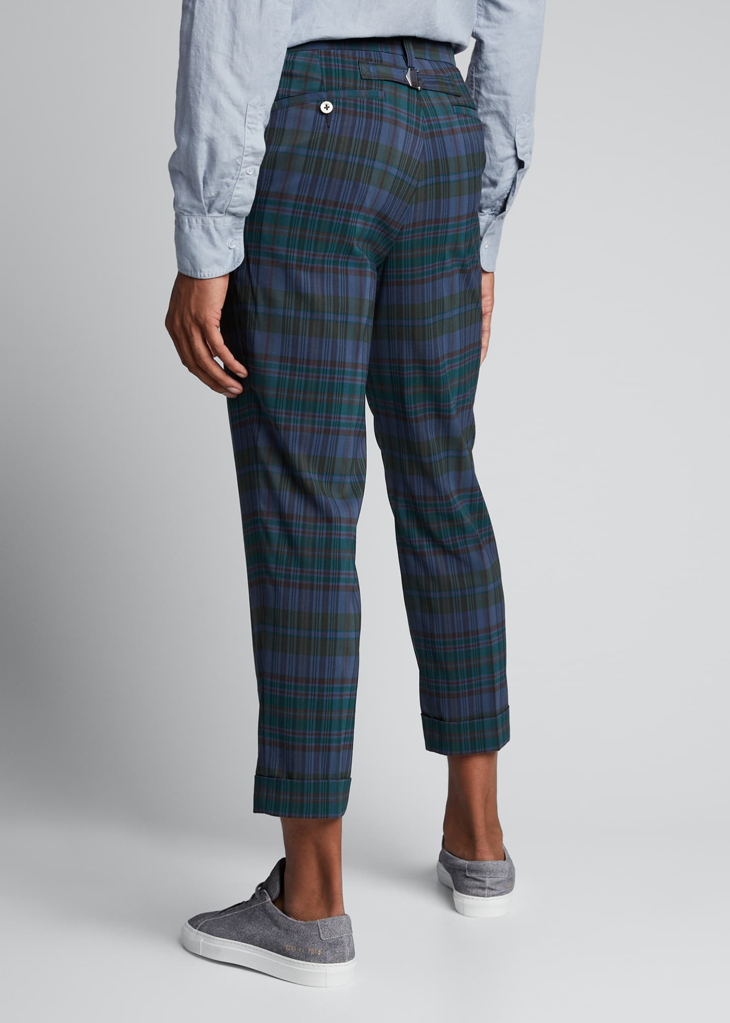 Image 2 of 4: Men's Ivy Madras Check Cropped Trousers