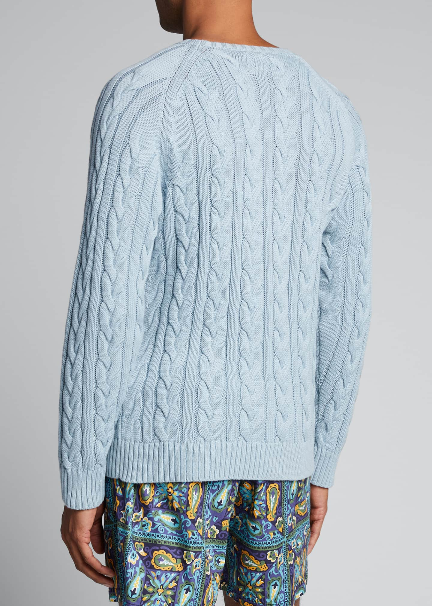 Image 2 of 4: Men's Cable-Knit Crewneck Sweater