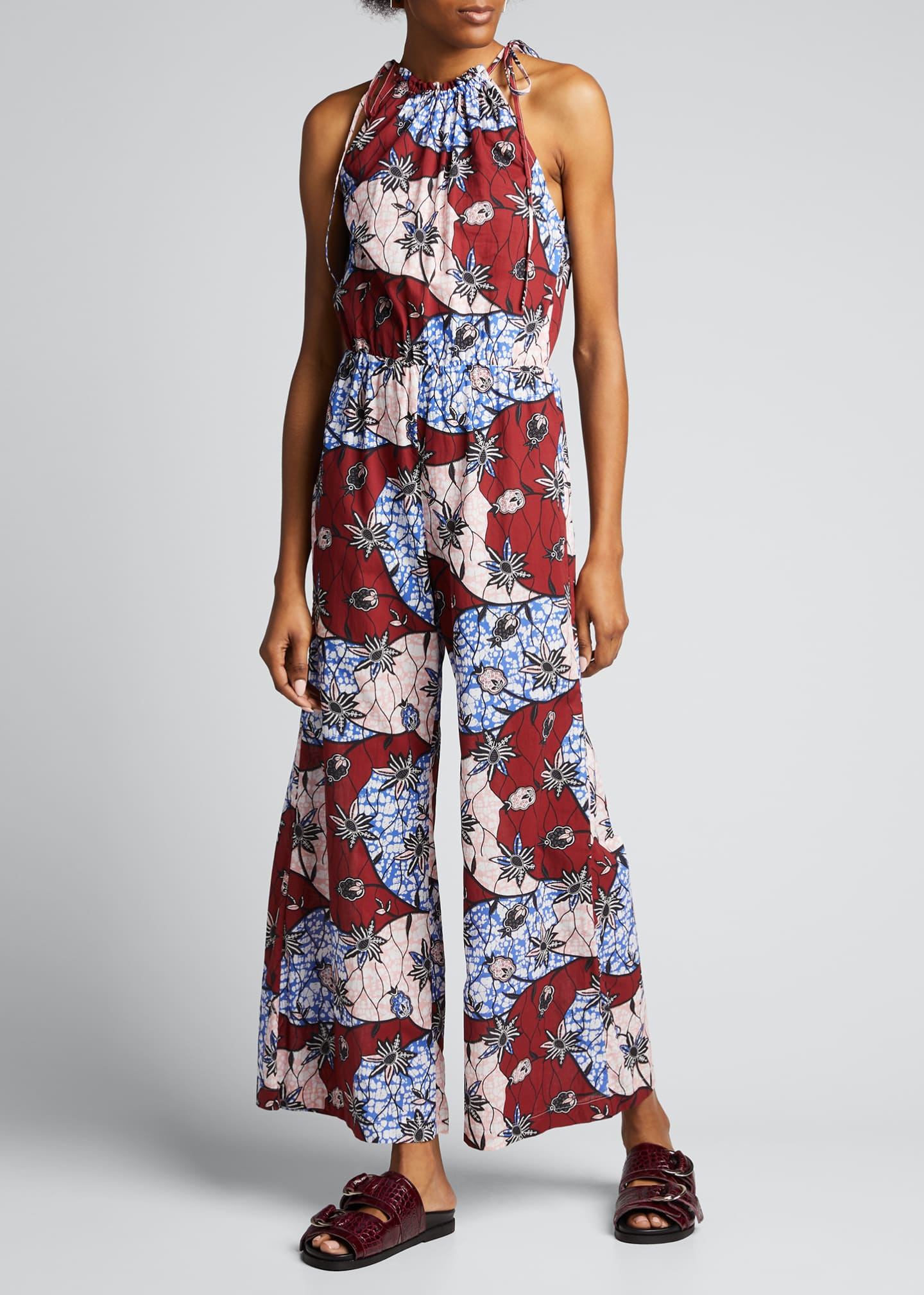 Image 3 of 5: Fernanda Printed Sleeveless Jumpsuit