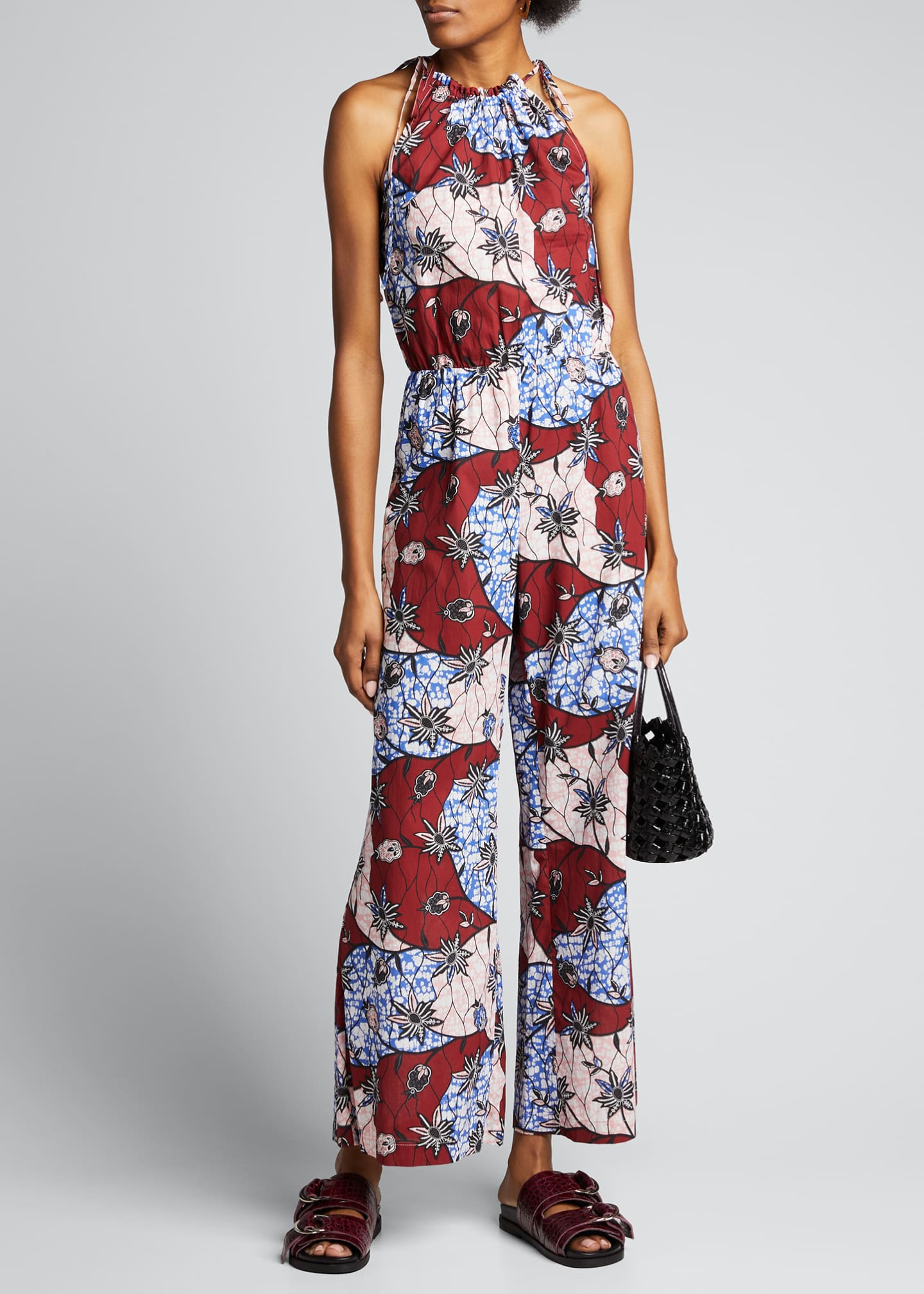 Image 1 of 5: Fernanda Printed Sleeveless Jumpsuit