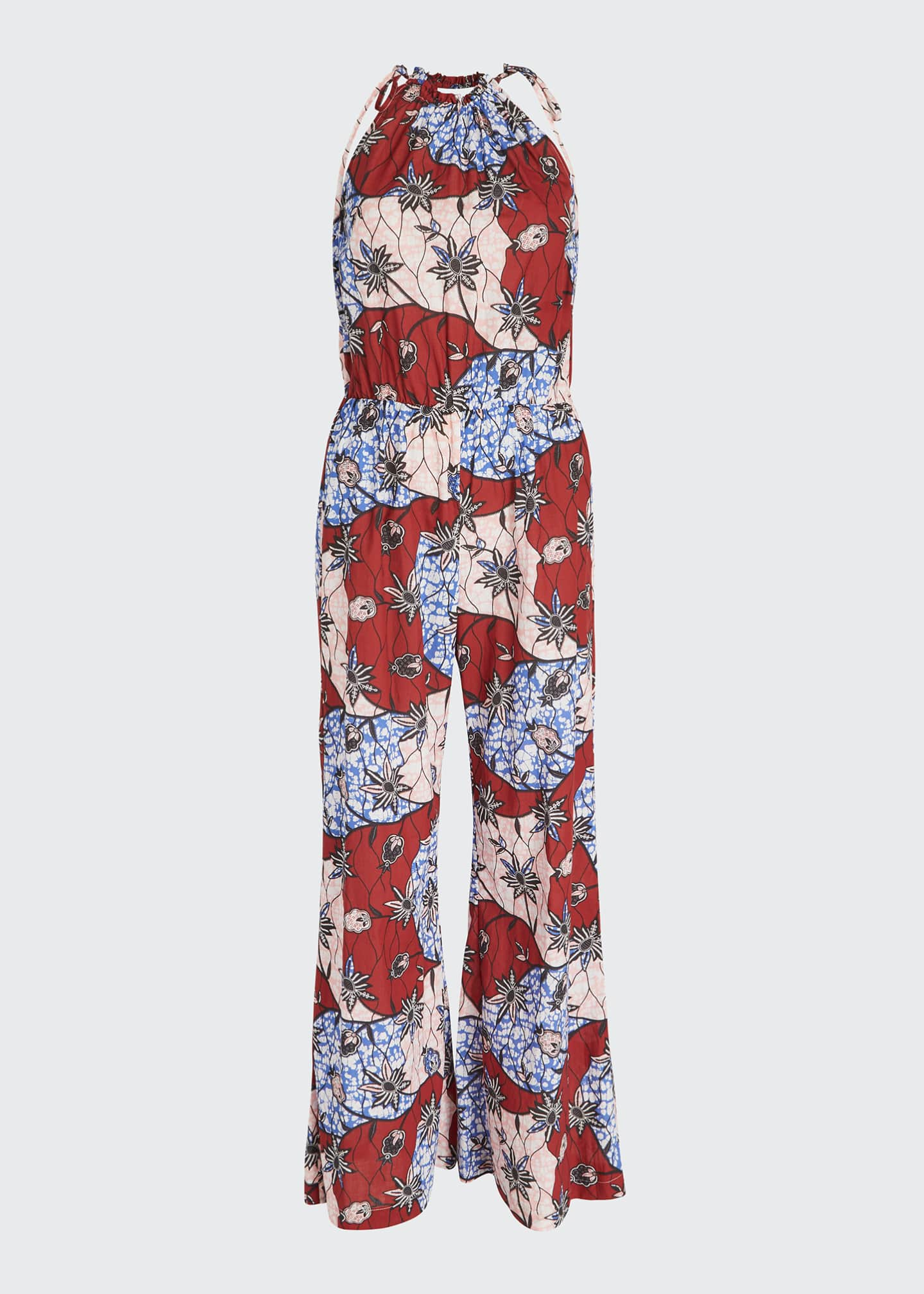 Image 5 of 5: Fernanda Printed Sleeveless Jumpsuit