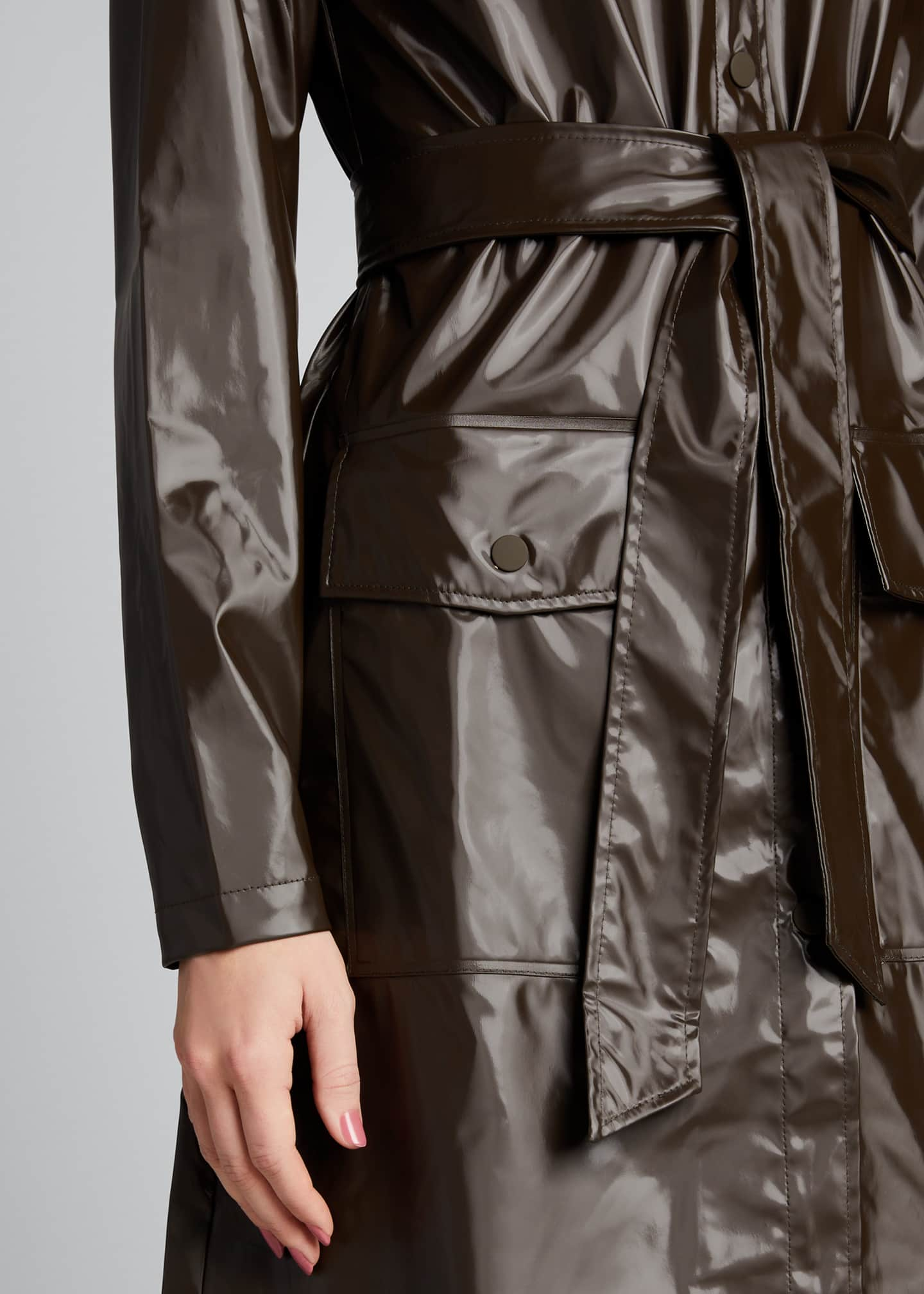 Image 4 of 5: Belted Jacket with Large Pockets