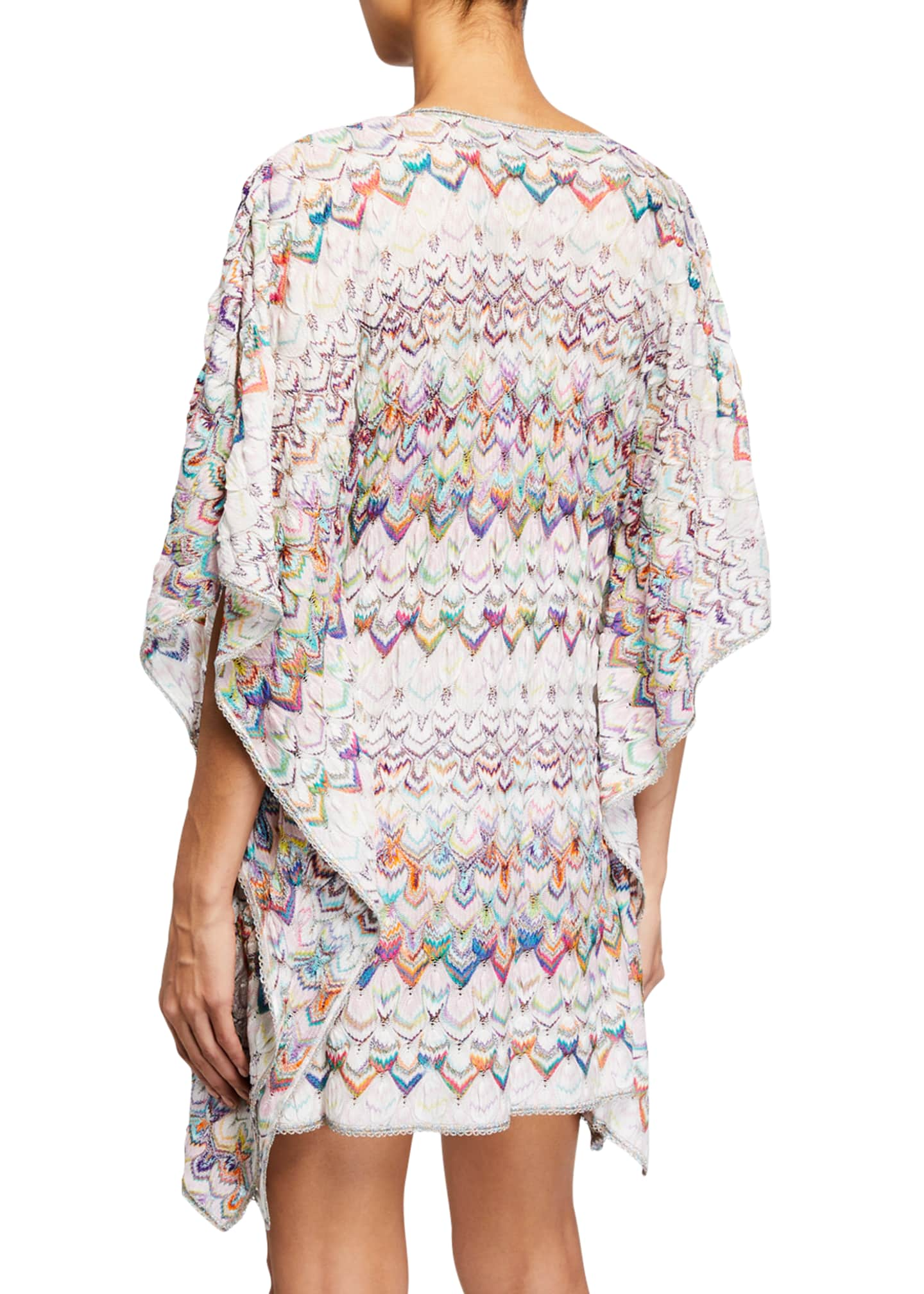 Image 2 of 2: Multicolor Short Caftan Coverup