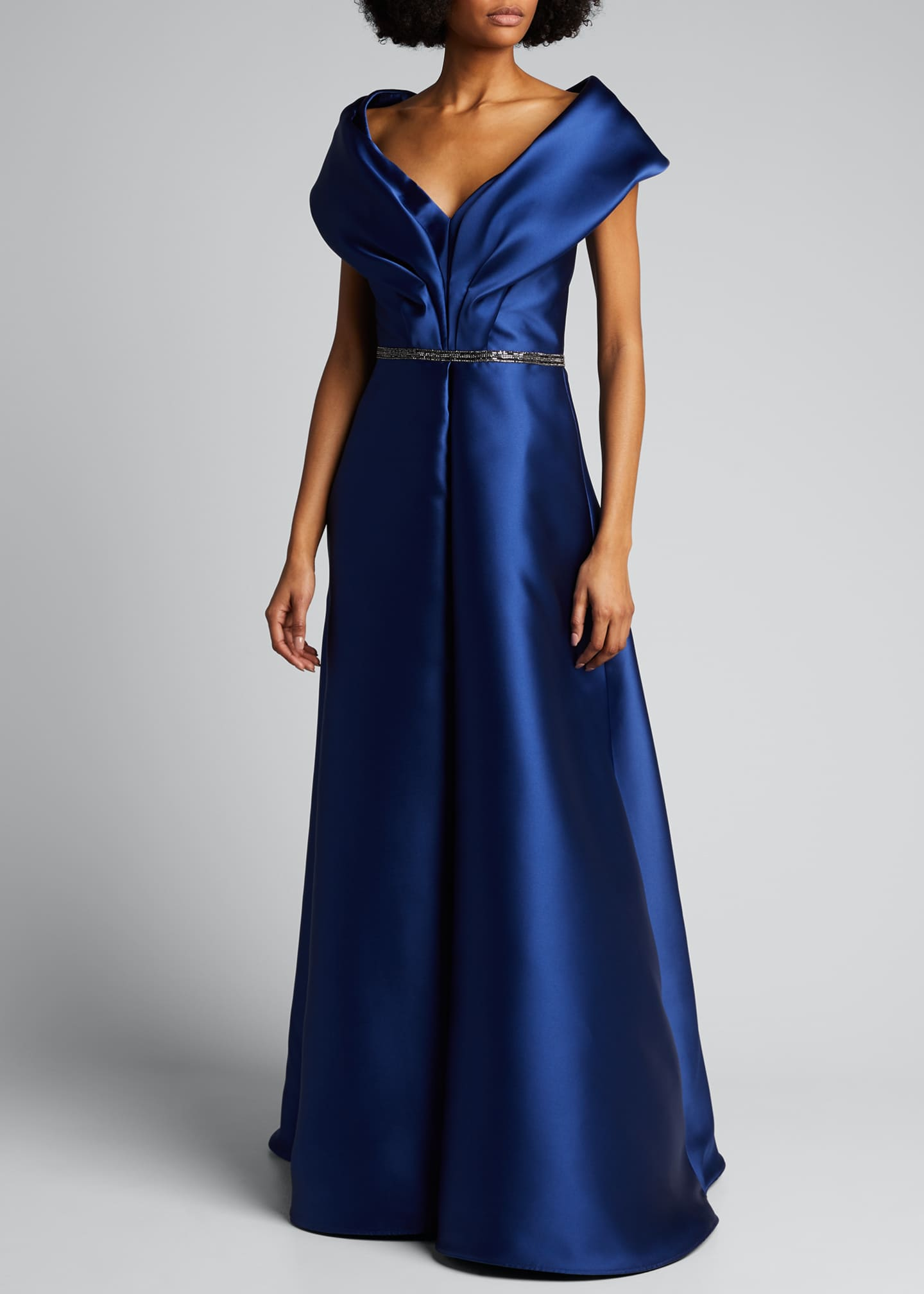 Image 3 of 5: Portrait Collar Gown