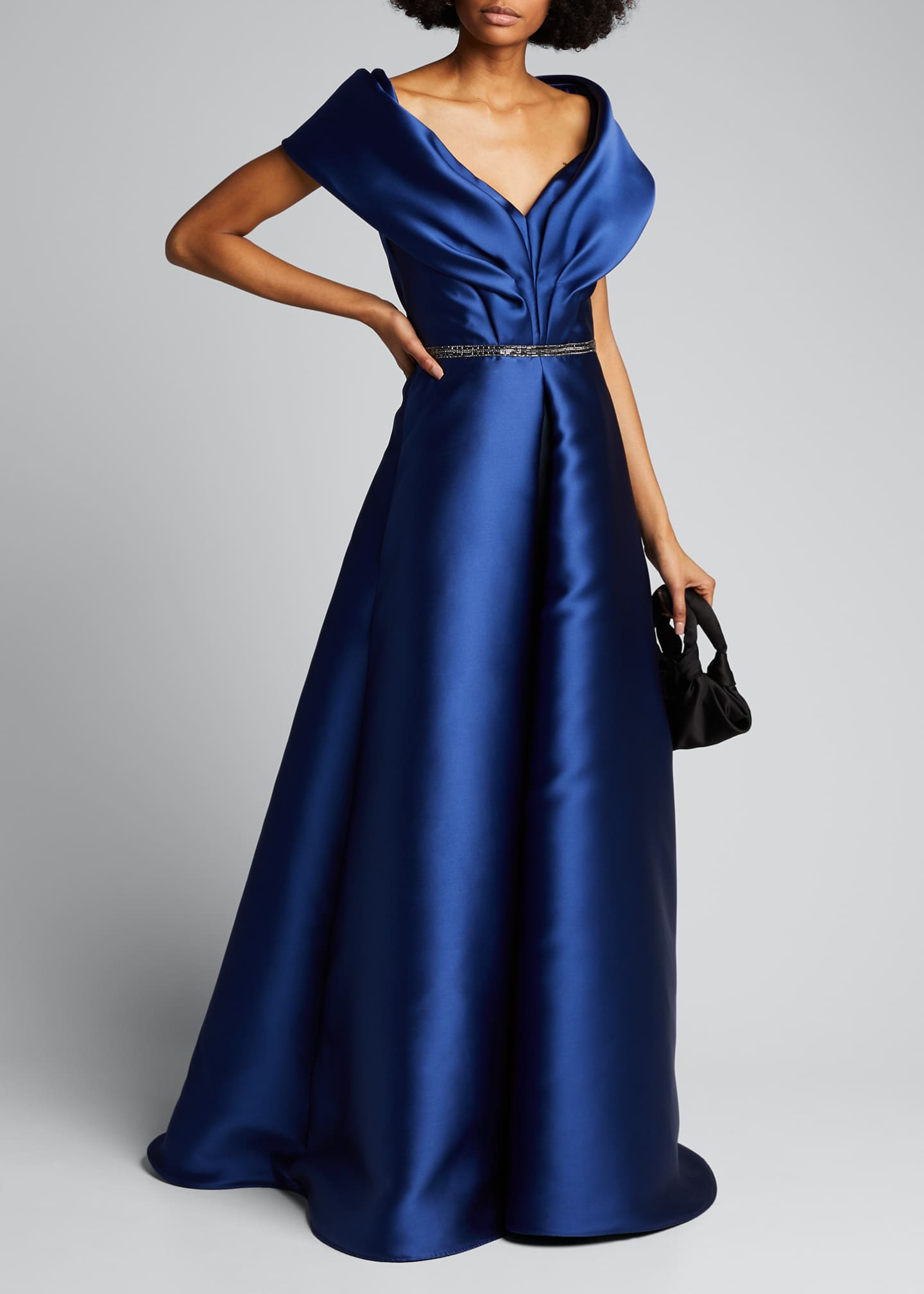 Image 1 of 5: Portrait Collar Gown