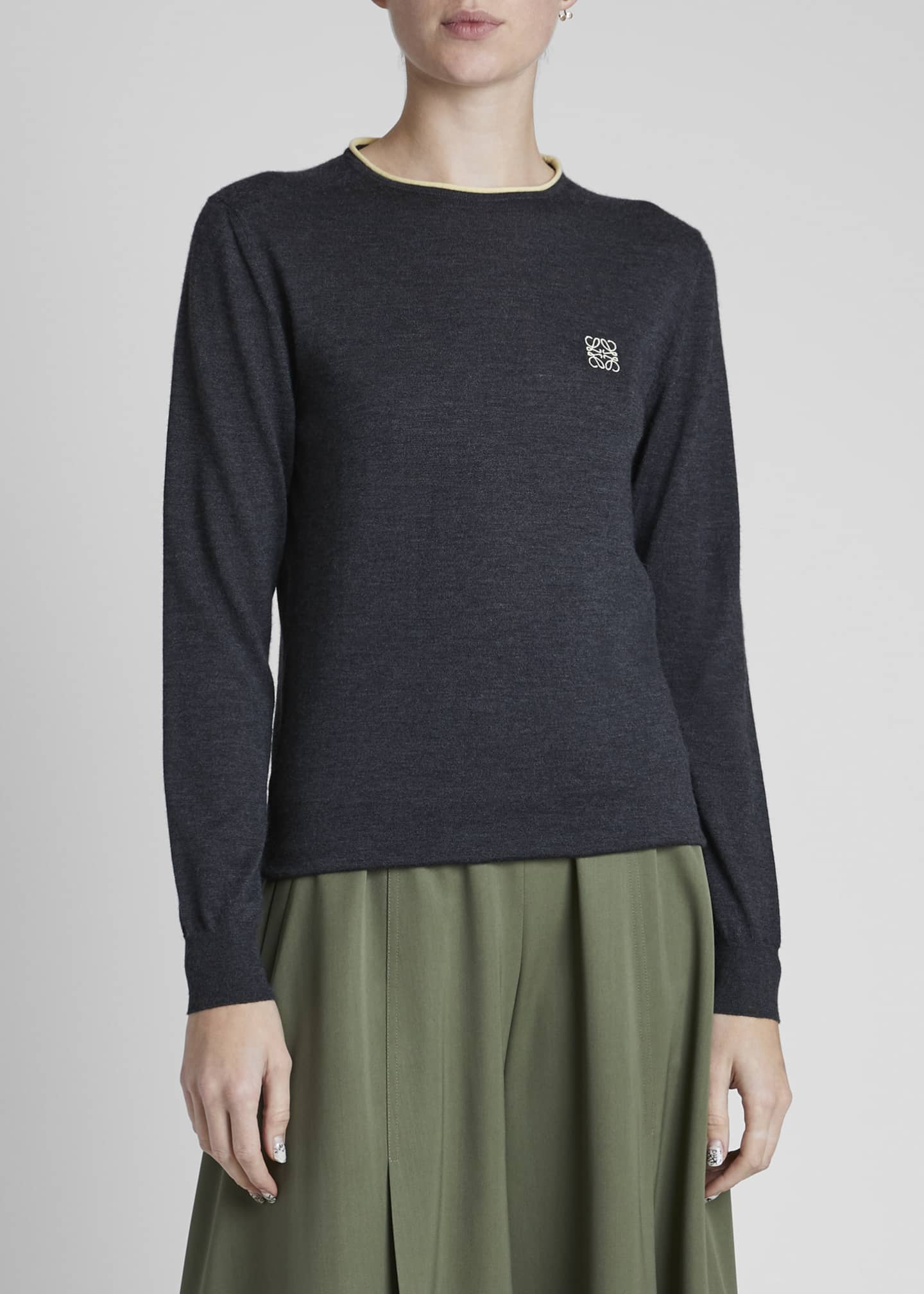 Image 3 of 4: Cashmere Anagram Sweater