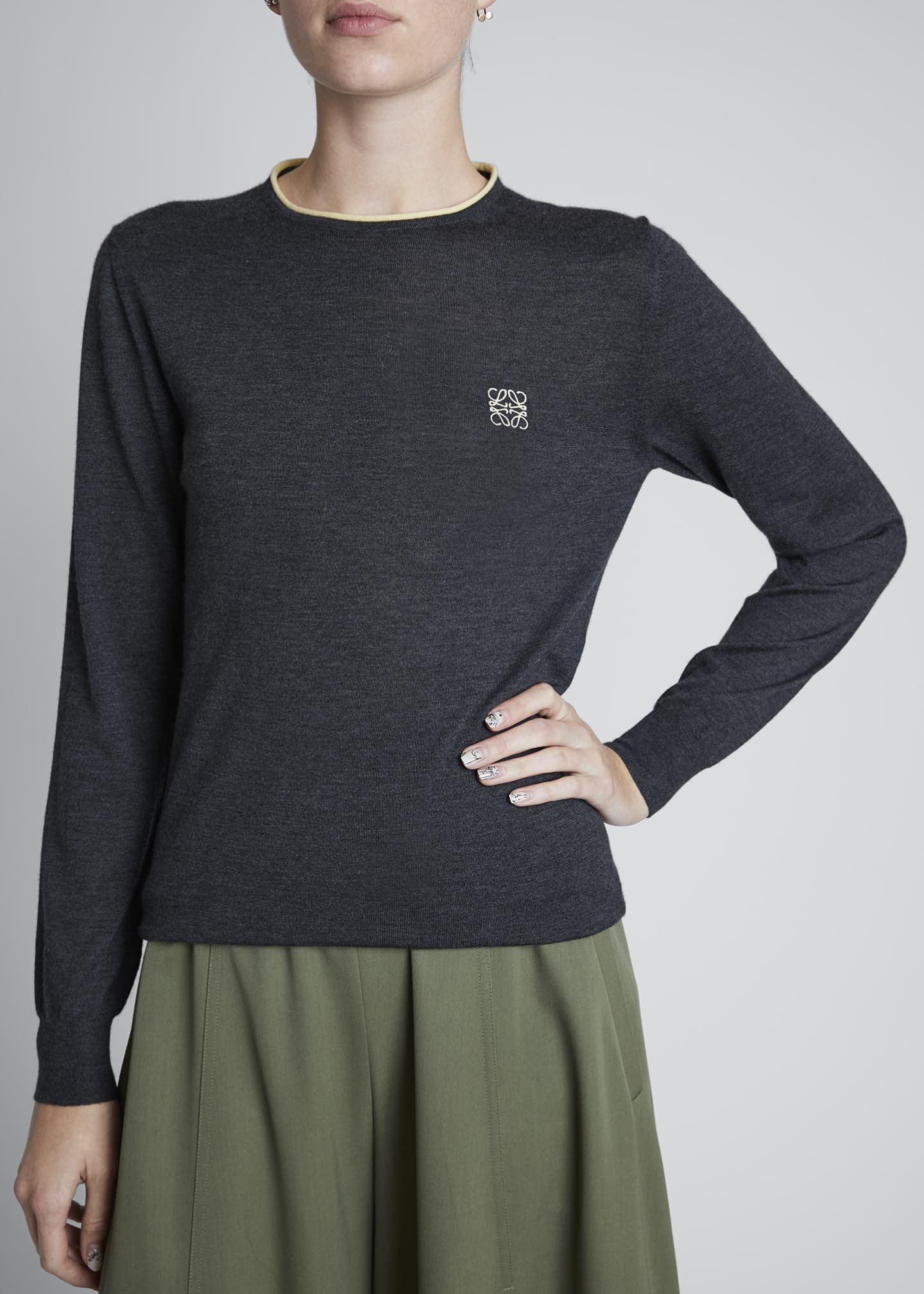 Image 4 of 4: Cashmere Anagram Sweater