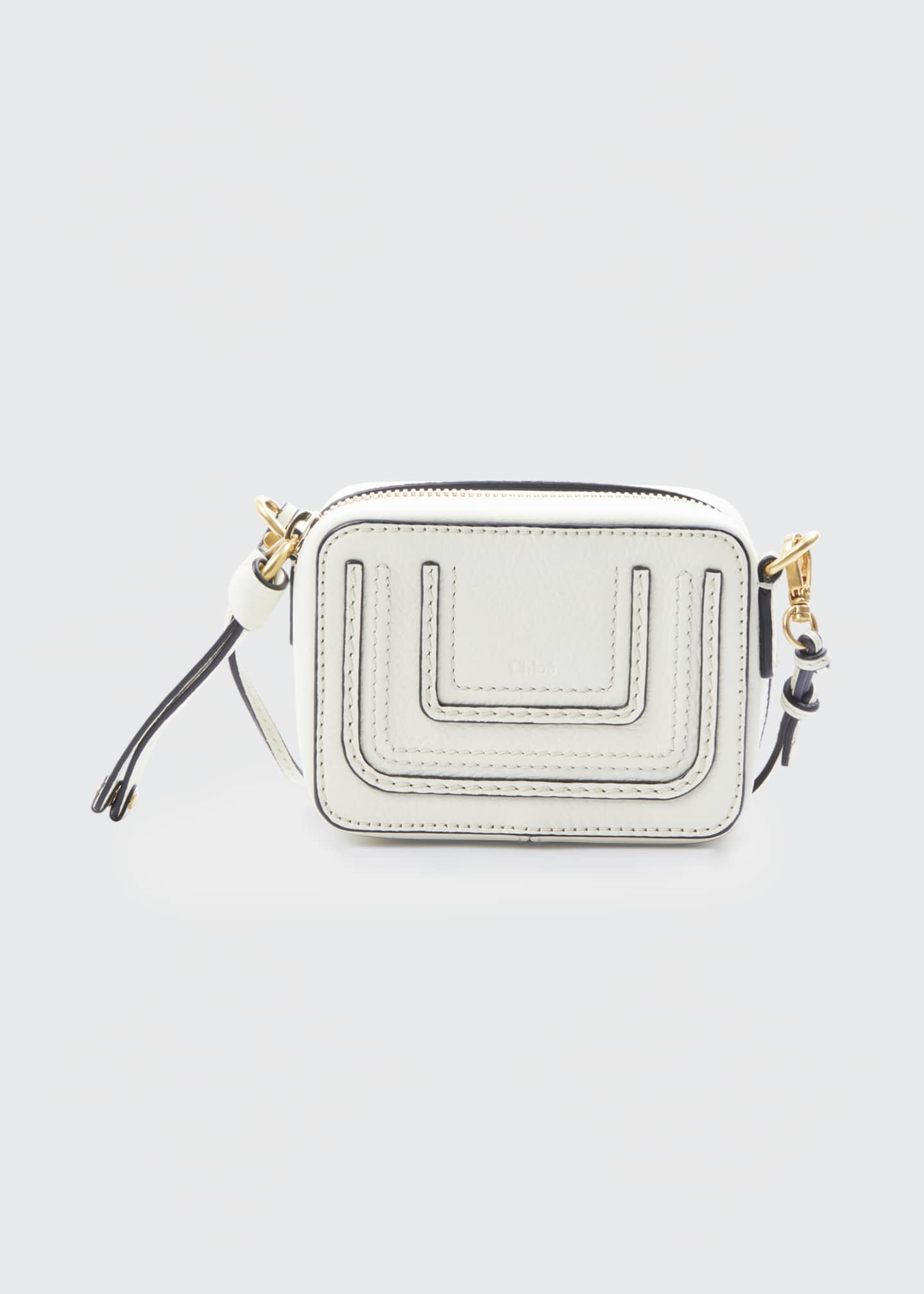 Image 1 of 5: Marcie Mini Leather Crossbody Bag