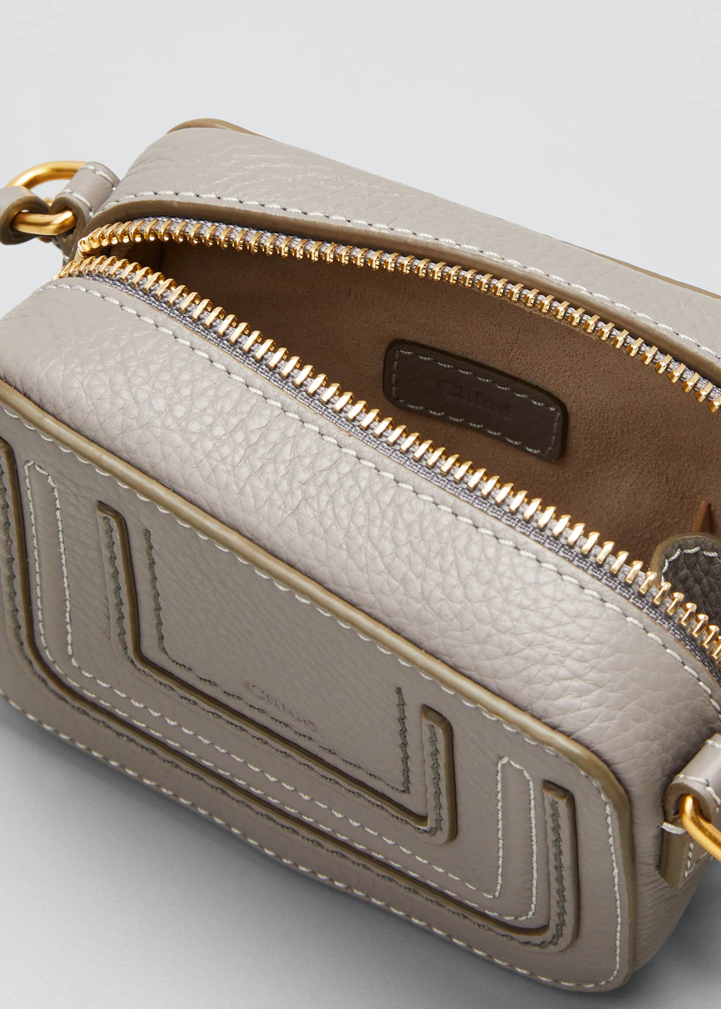 Image 4 of 5: Marcie Mini Leather Crossbody Bag